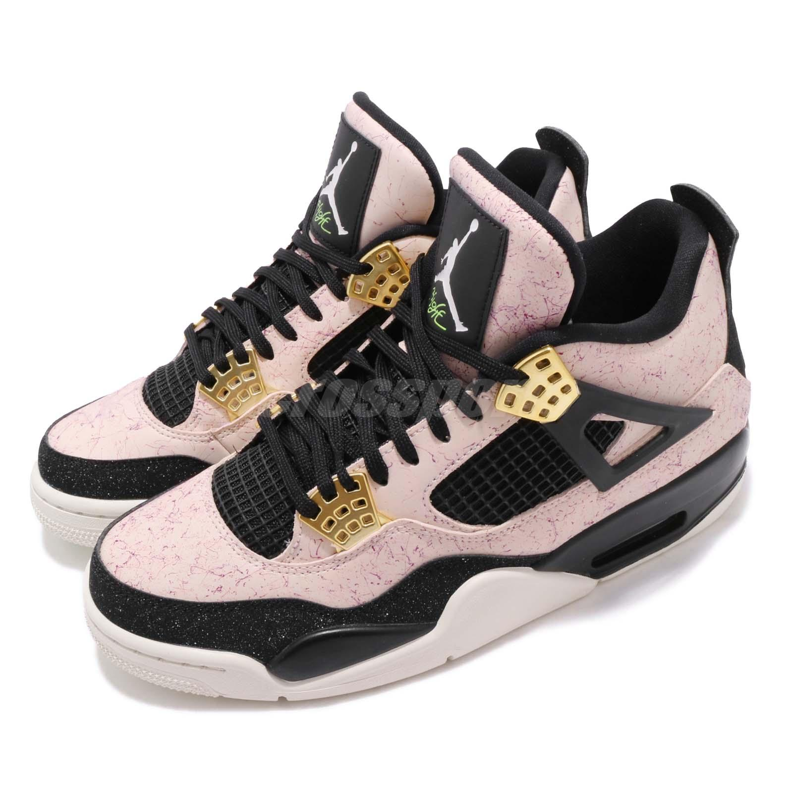 254d95bfff5 Details about Nike Wmns Air Jordan 4 Retro IV AJ4 Splatter Silt Red Women  Shoes AQ9129-601