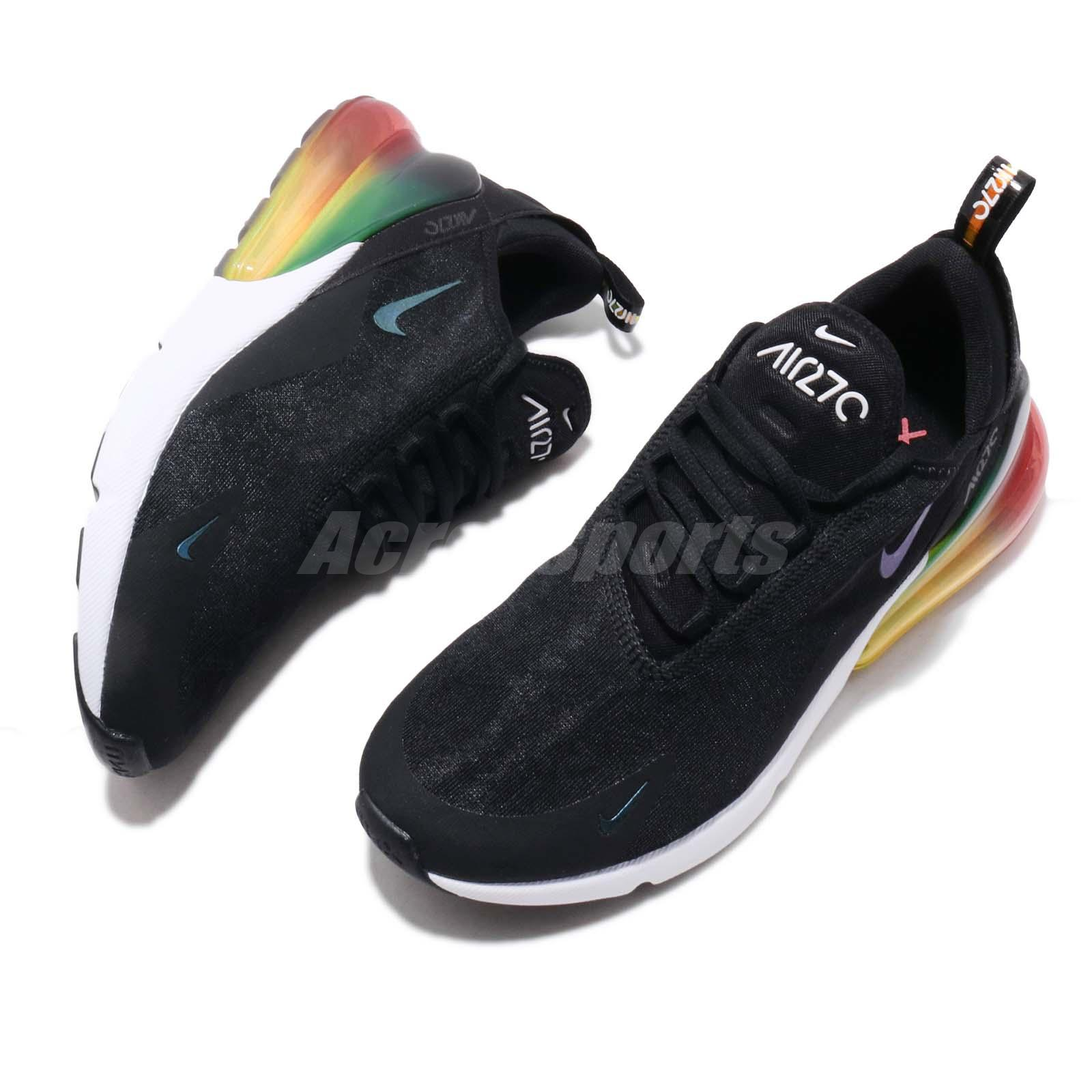 new styles d45d2 4c4dd Sports, vacances Nike Air Max 270 SE Black Laser Orange Gradient Mens  Running Shoes AQ9164-003 ...