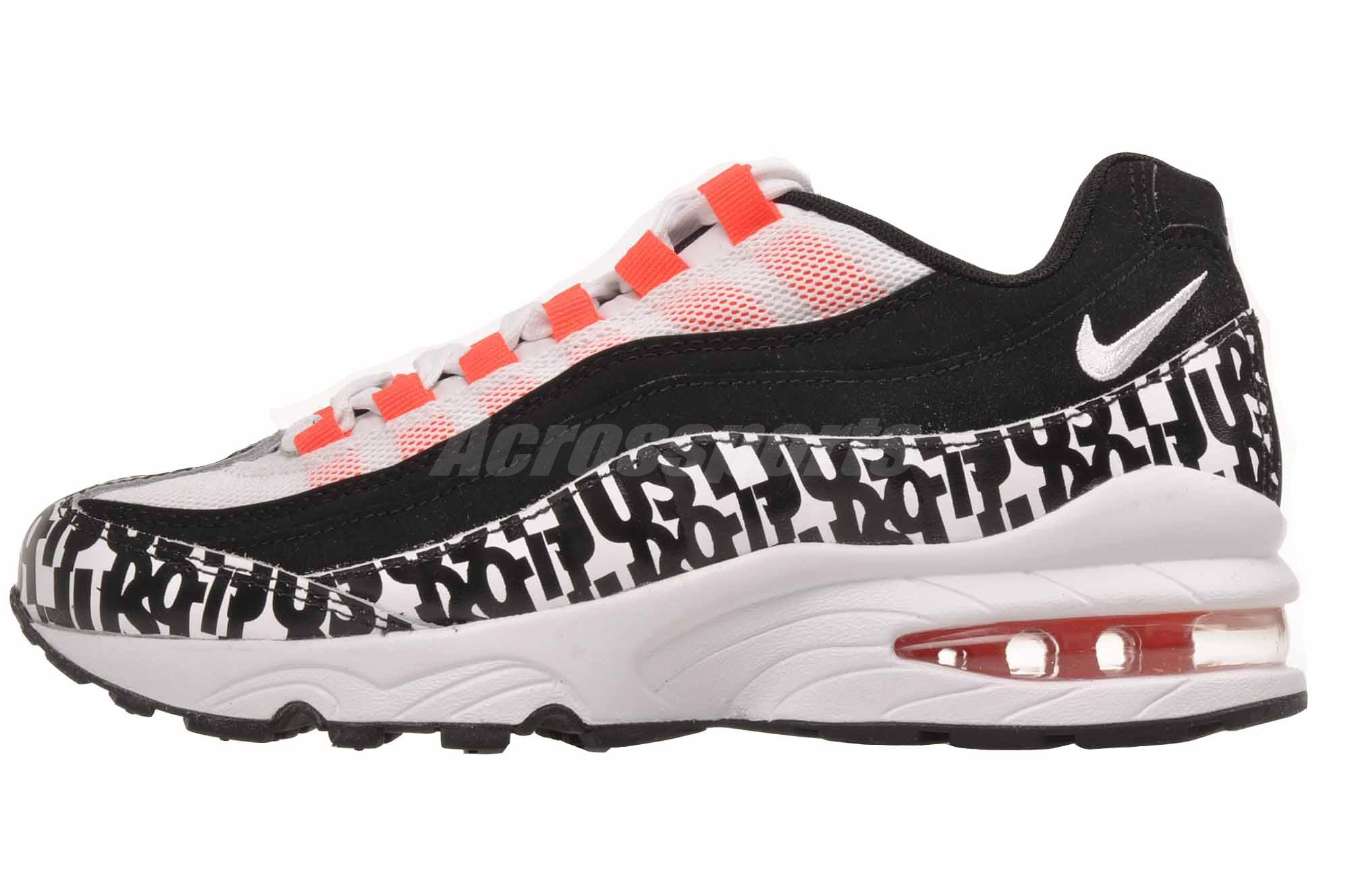 new style d5568 75e4c Details about Nike Air Max 95 Print GS Kids Youth Running Shoes Black White  AQ9711-001