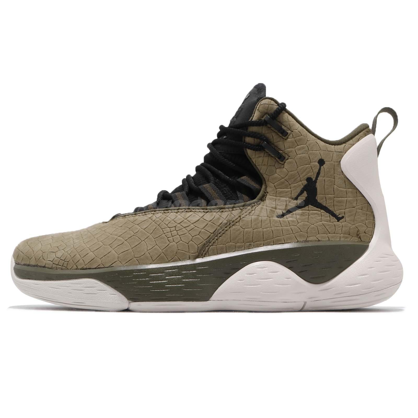 Nike Jordan Super.Fly MVP PF Olive Canvas Black Men Basketball Shoes  AR0038-300 ac734ed170d