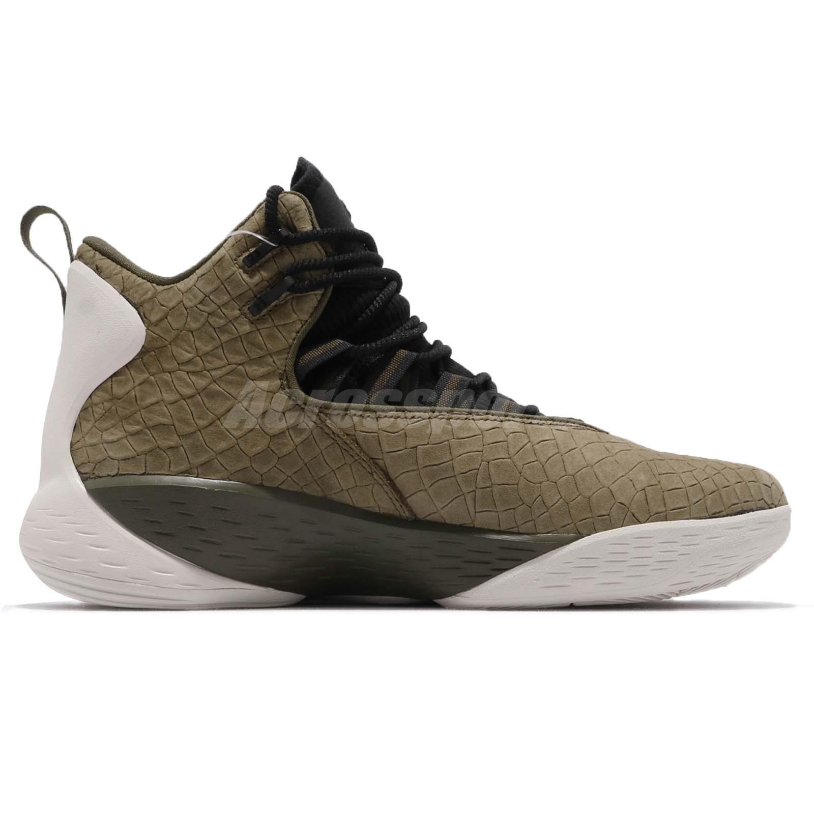 89f005820500 Nike Jordan Super.Fly MVP PF Olive Canvas Black Men Basketball Shoes ...