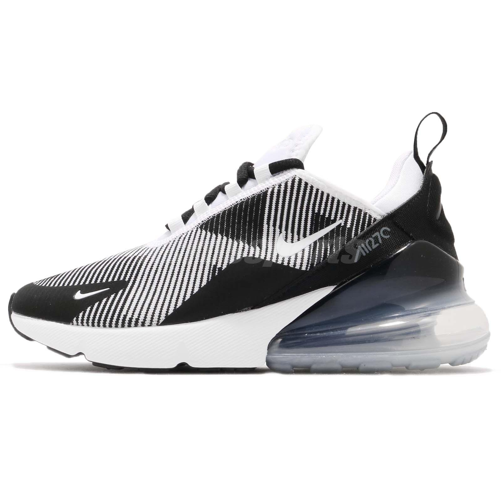 0311440e1548e6 Nike Air Max 270 KJCRD GS Black White Grey Kid Youth Women Shoes AR0301-007