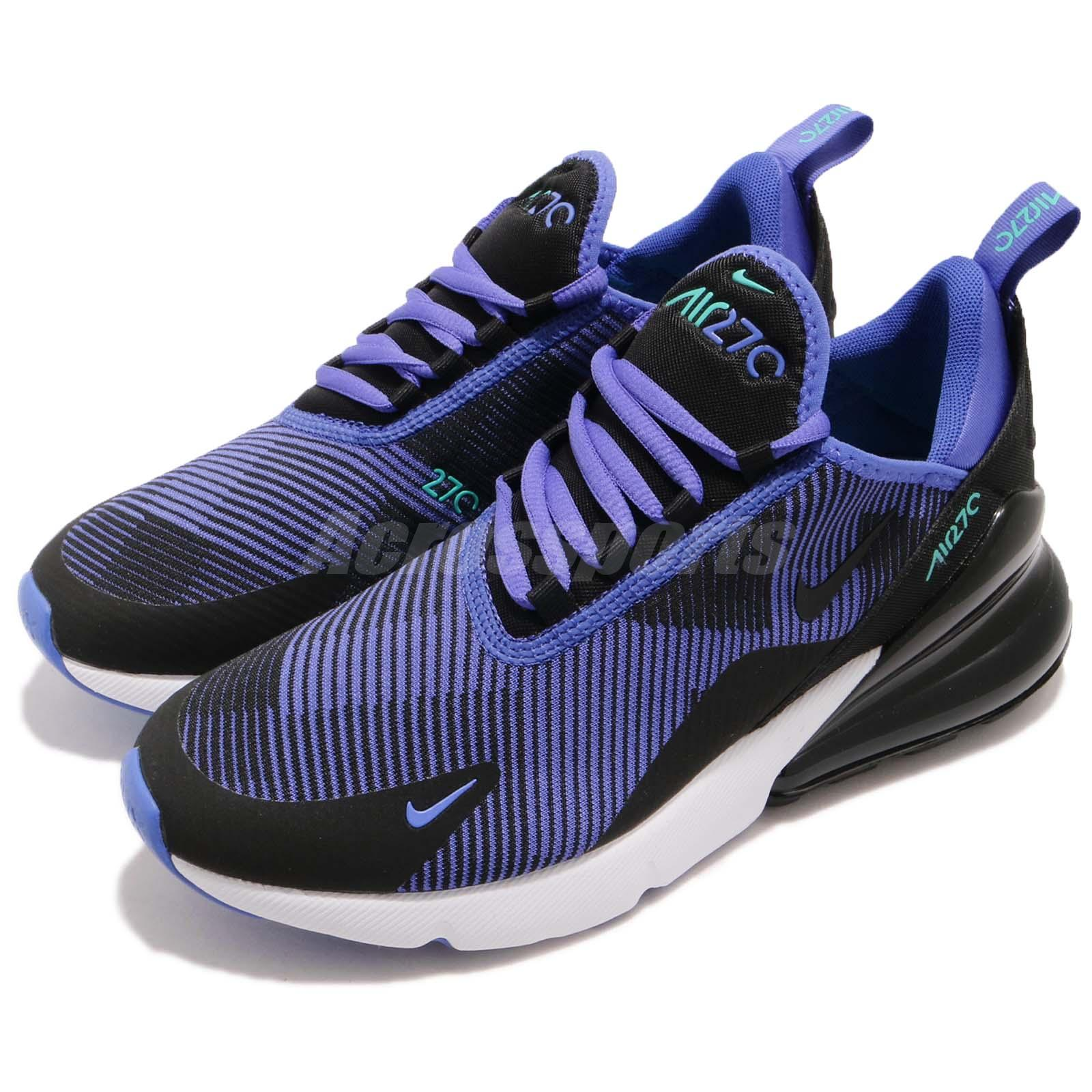 Details about Nike Air Max 270 KJCRD GS Persian Violet Black Kid Youth Women Shoes AR0301-500