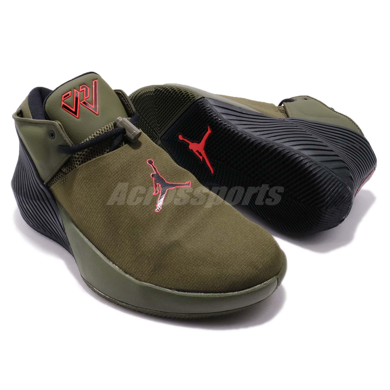 aed3e10e1c8 Nike Jordan Why Not Zer0.1 Low PFX Russell Westbrook Olive Green Men ...