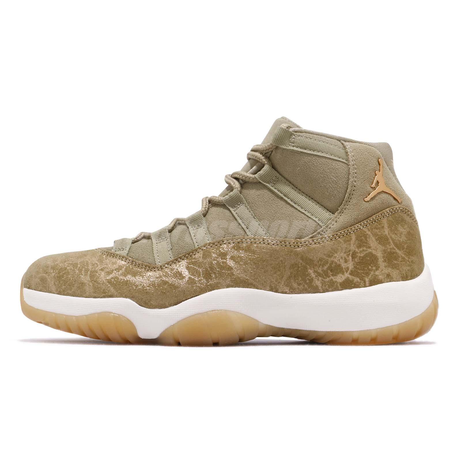 8943868a56 Nike Wmns Air Jordan 11 Retro XI Neutral Olive Womens Sneakers AJ11 AR0715- 200