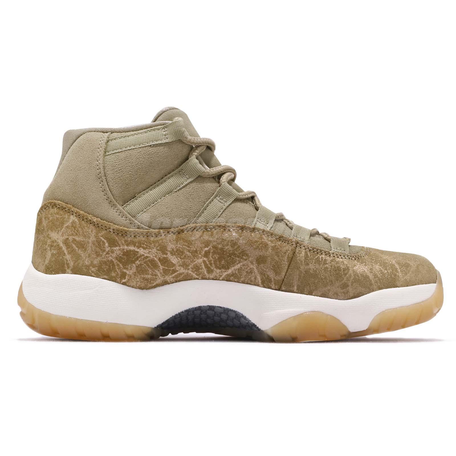 0757af7478a599 Nike Wmns Air Jordan 11 Retro XI Neutral Olive Womens Sneakers AJ11 ...