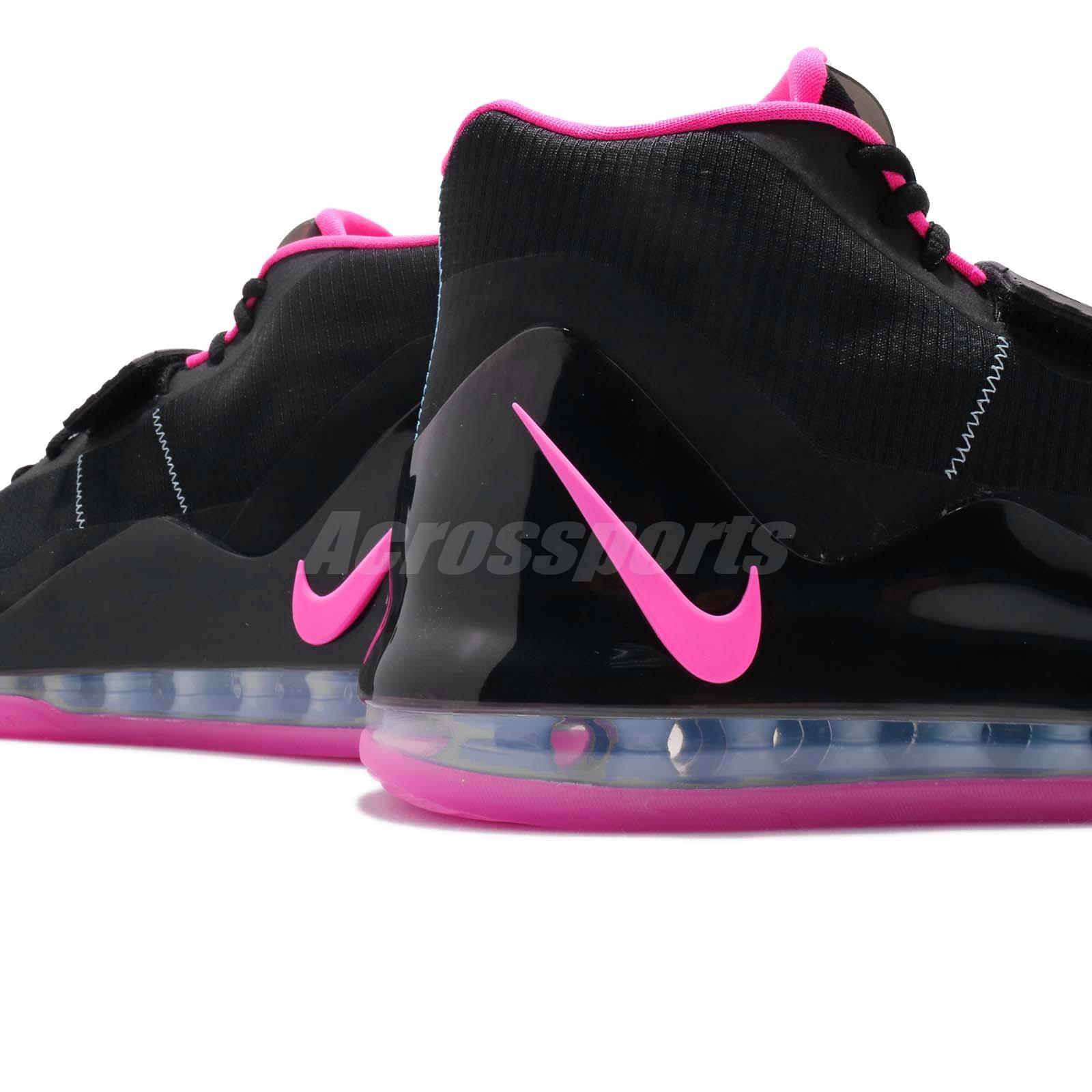 7f9807415c04d Nike Air Force Max EP Black Pink Blast Blue Chill Men Basketball ...