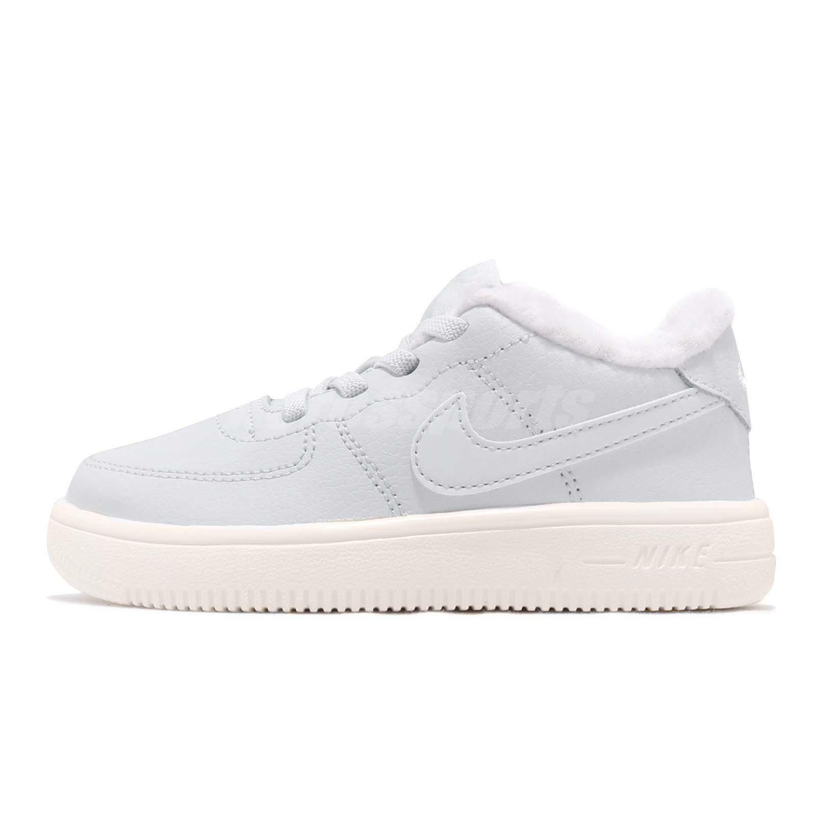 new product 0e352 e7308 Nike Force 1 18 SE TD Pure Platinum Sail Toddler Infant Baby Shoes AR1134 -001