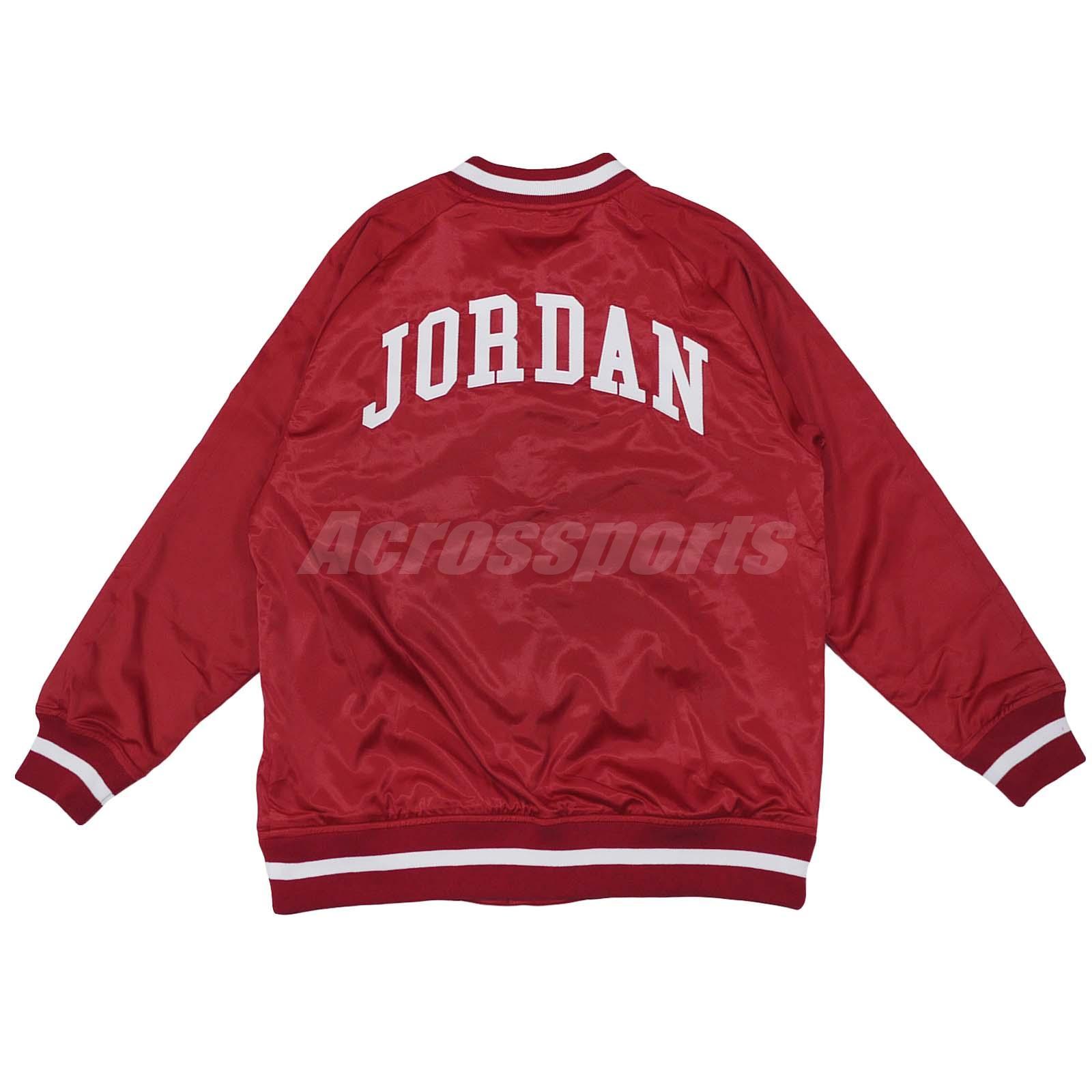 fb983a4936cfc1 Nike Jordan He Got Game Satin Baseball Jacket Bomber Air Gym Red ...
