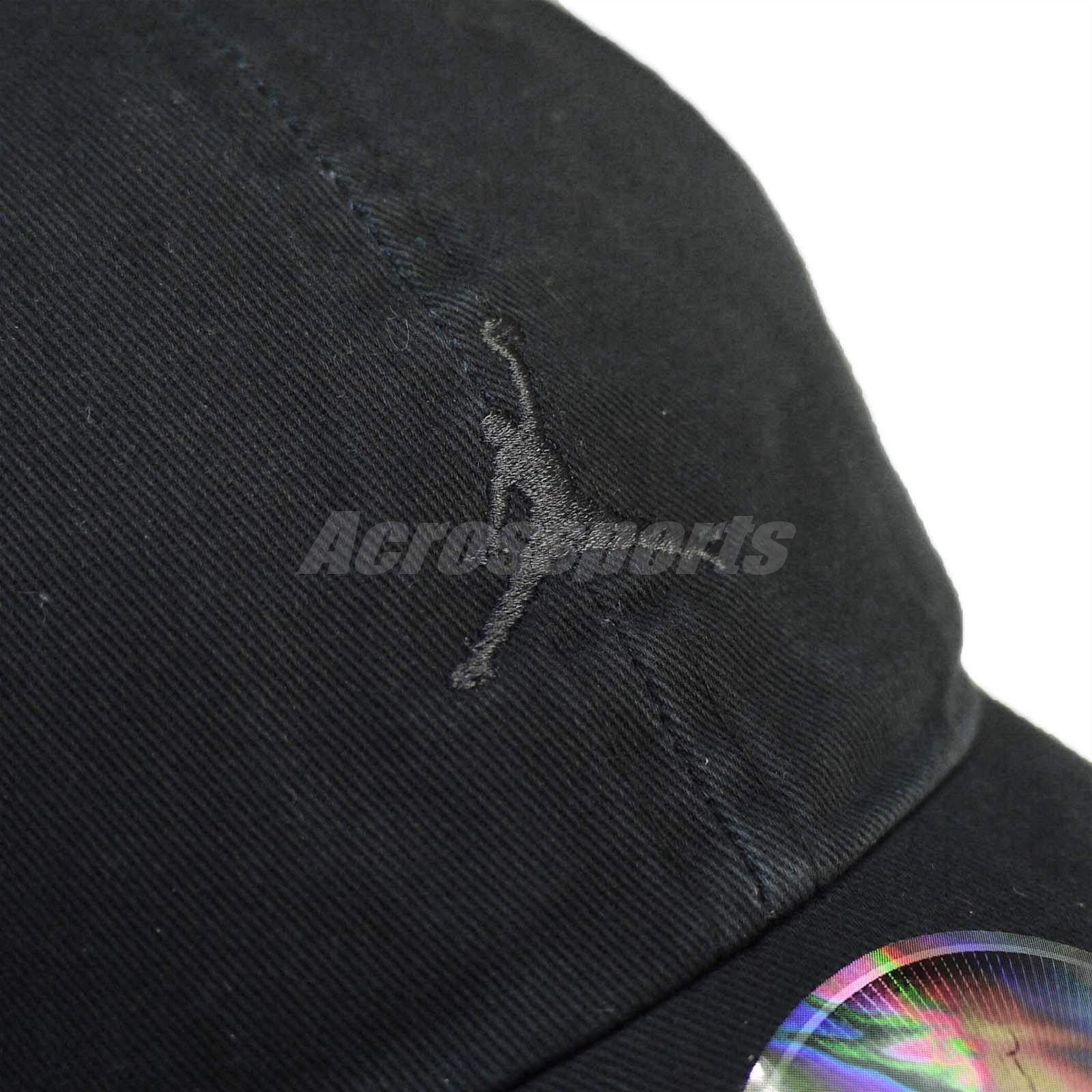 83a68a7520916 Details about Nike Unisex Jordan Heritage 86 Jumpman Floppy Cap Air Jumpman  Black AR2117-010