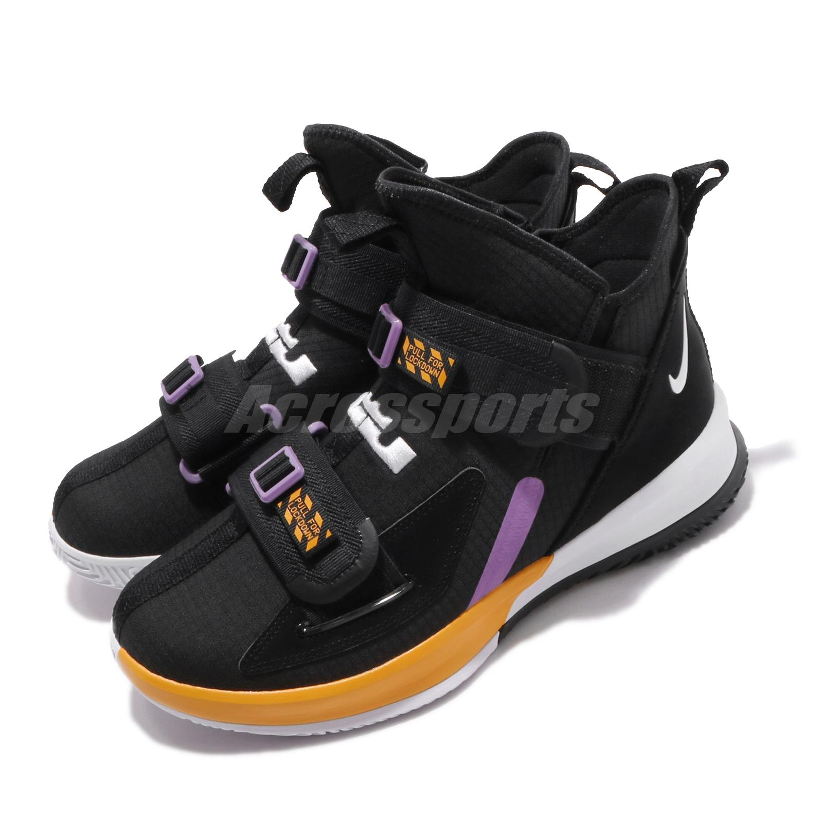 more photos 5999a ab692 Details about Nike LeBron Soldier XIII SFG EP 13 James Black Yellow White  Men Shoes AR4228-004