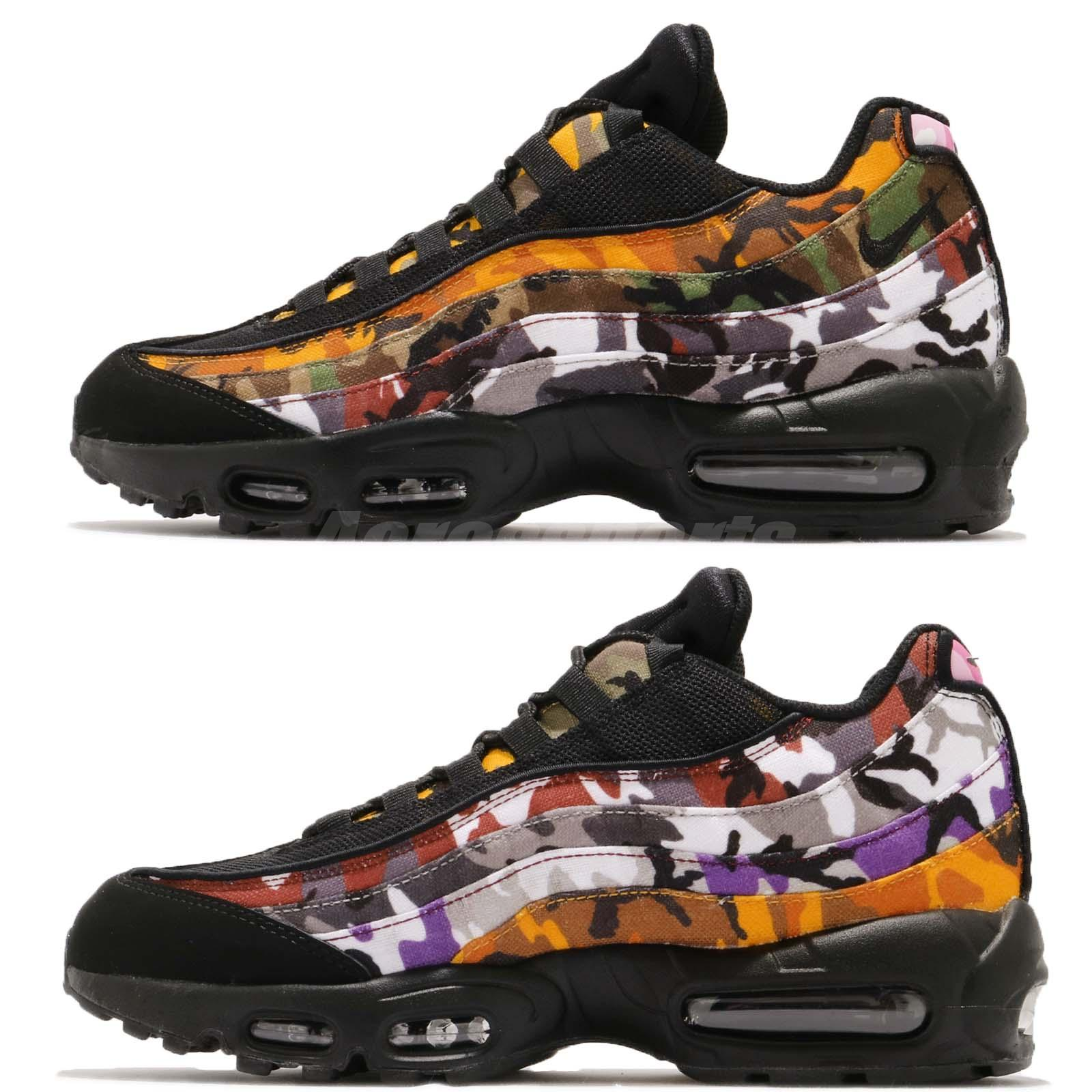 9052ad8cf2fc Nike Air Max 95 ERDL Party Black Multi-Colot Camo Print NSW Sneakers  AR4473-001