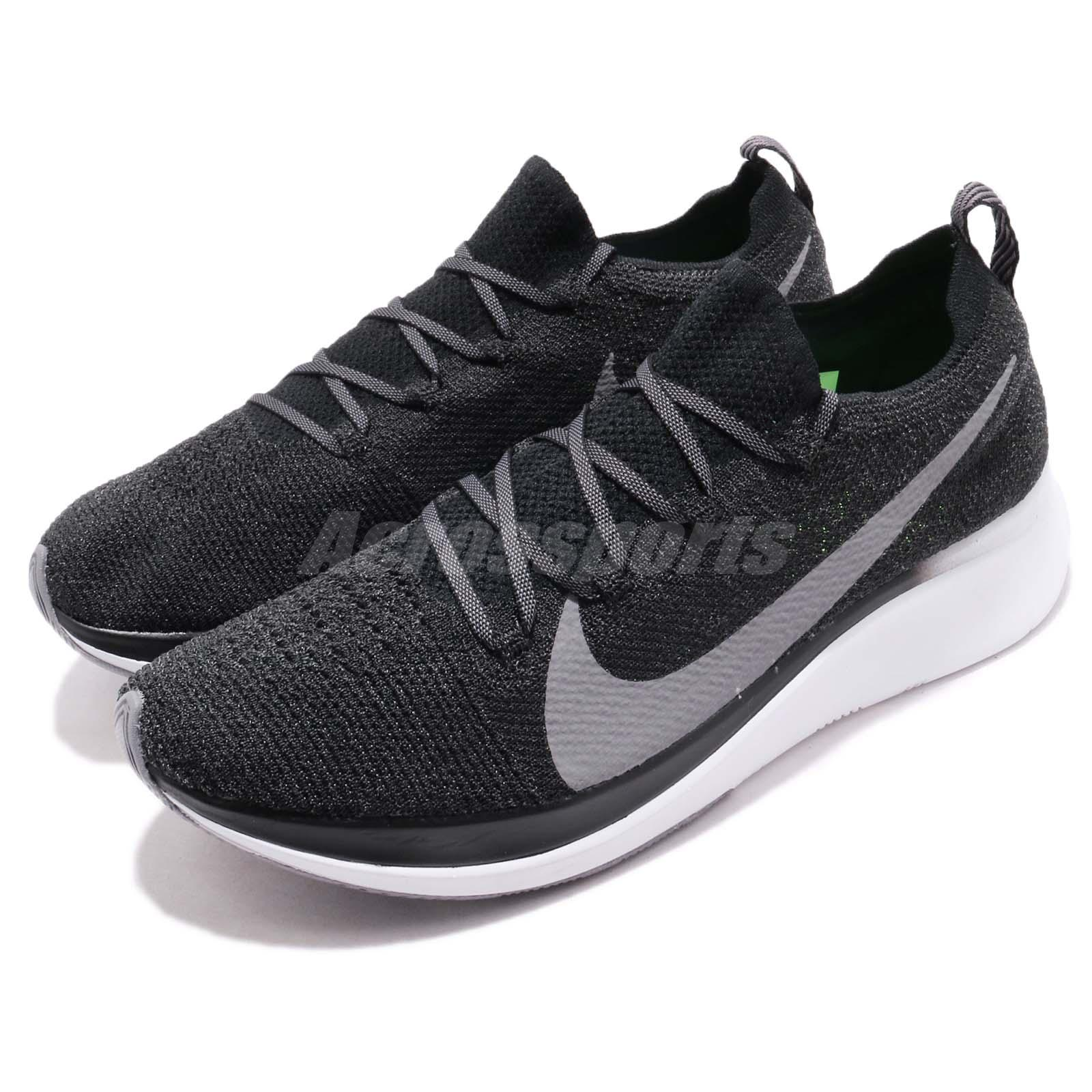 cheap for discount e47e2 c6f44 Details about Nike Zoom Fly FK Flyknit Black Grey White Men Running Shoes  Sneakers AR4561-001