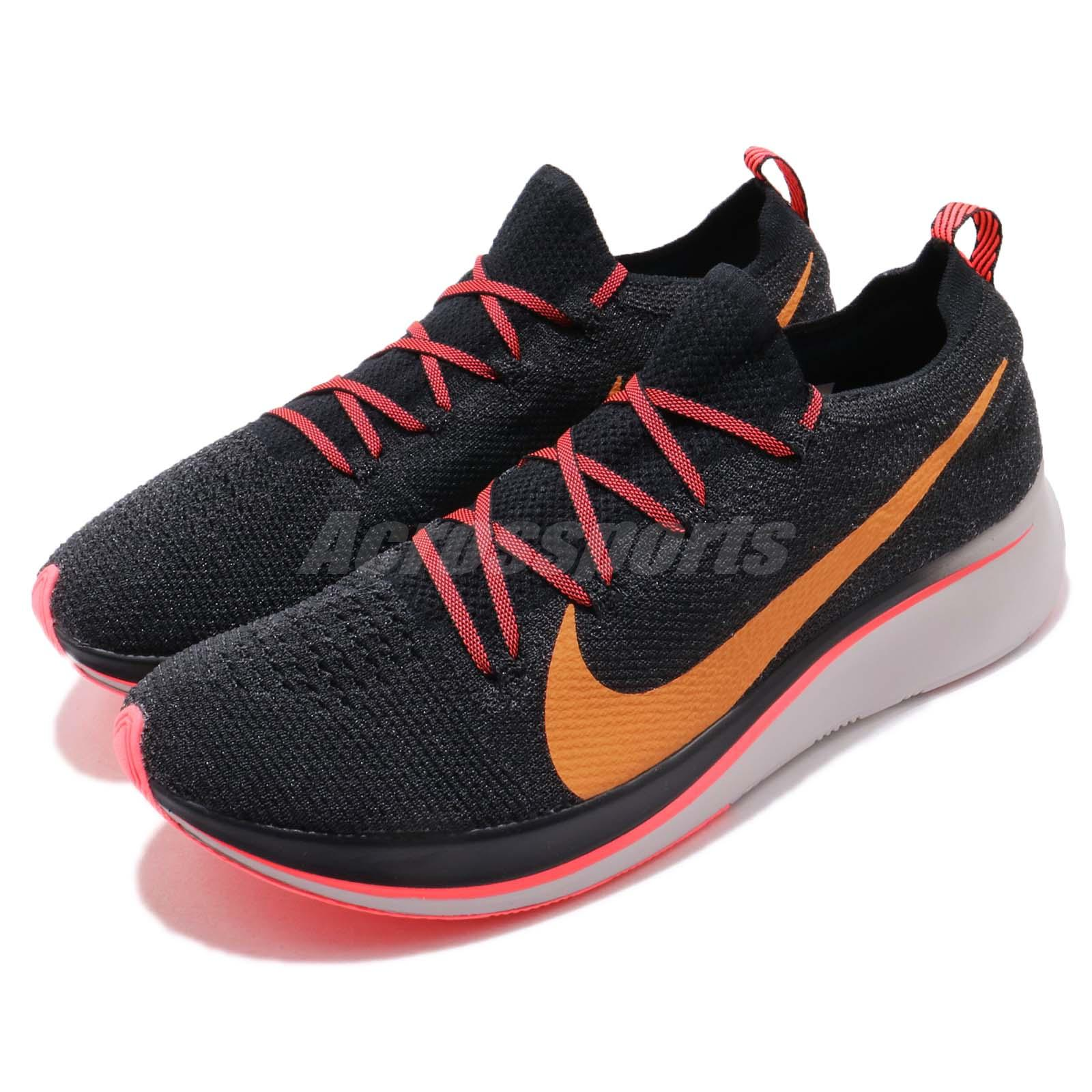 9644ab9be3320 Details about Nike Zoom Fly FK Flyknit Black Orange Peel Men Running Shoes  Sneakers AR4561-068