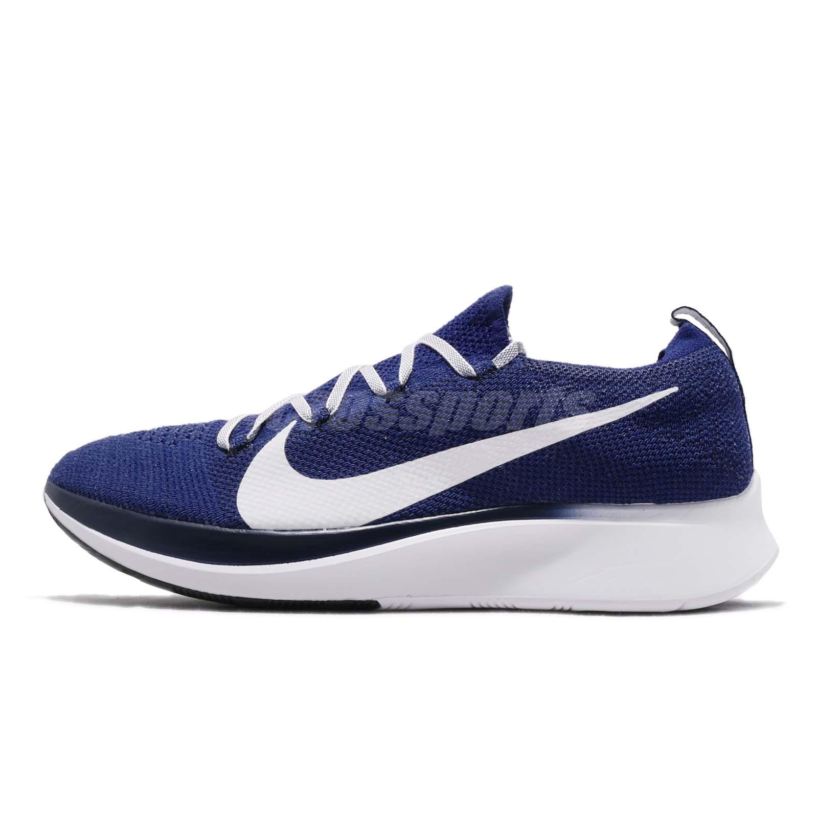 c878c8988c768 Details about Nike Zoom Fly FK Flyknit Deep Royal White Blue Void Men  Running Shoes AR4561-400