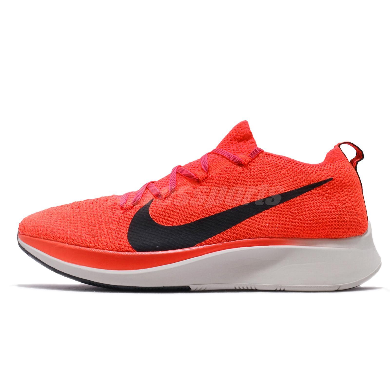 24ff844f3ea5 Nike Zoom Fly FK Flyknit Bright Crimson Black Men Running Shoes AR4561-600