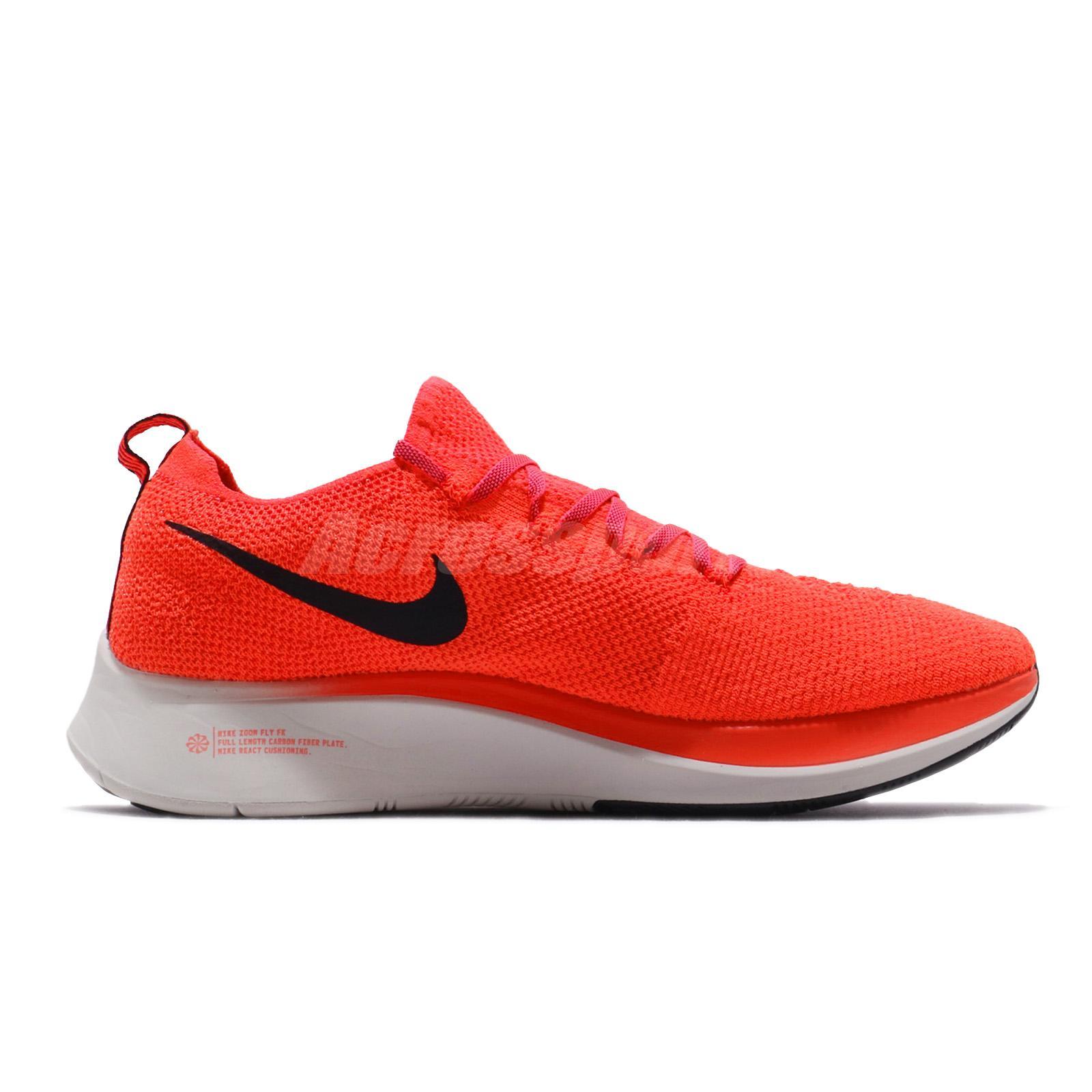 7bdd8be5cf2c Nike Zoom Fly FK Flyknit Bright Crimson Black Men Running Shoes ...