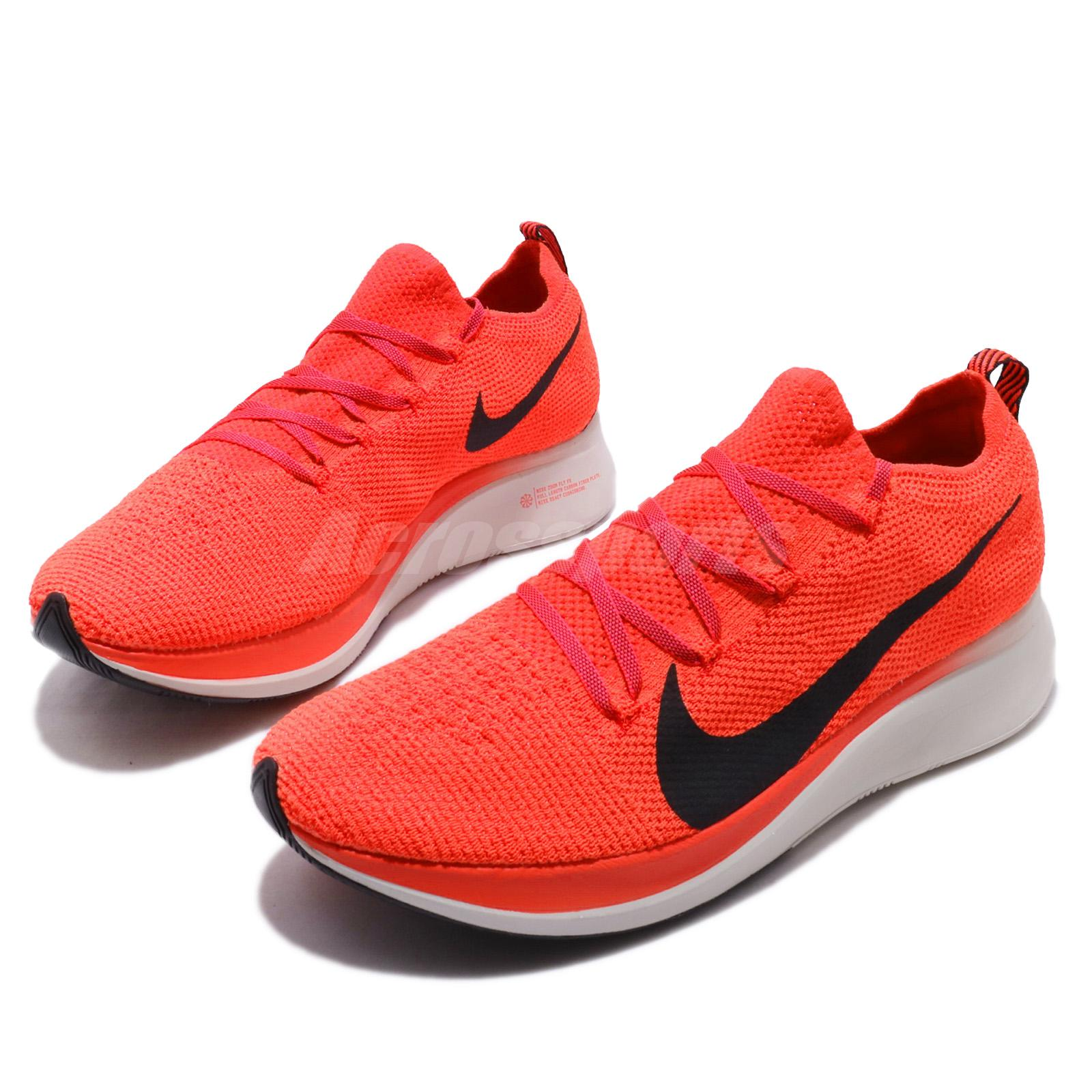 46fdb115aea2 Details about Nike Zoom Fly FK Flyknit Bright Crimson Black Men Running  Shoes AR4561-600
