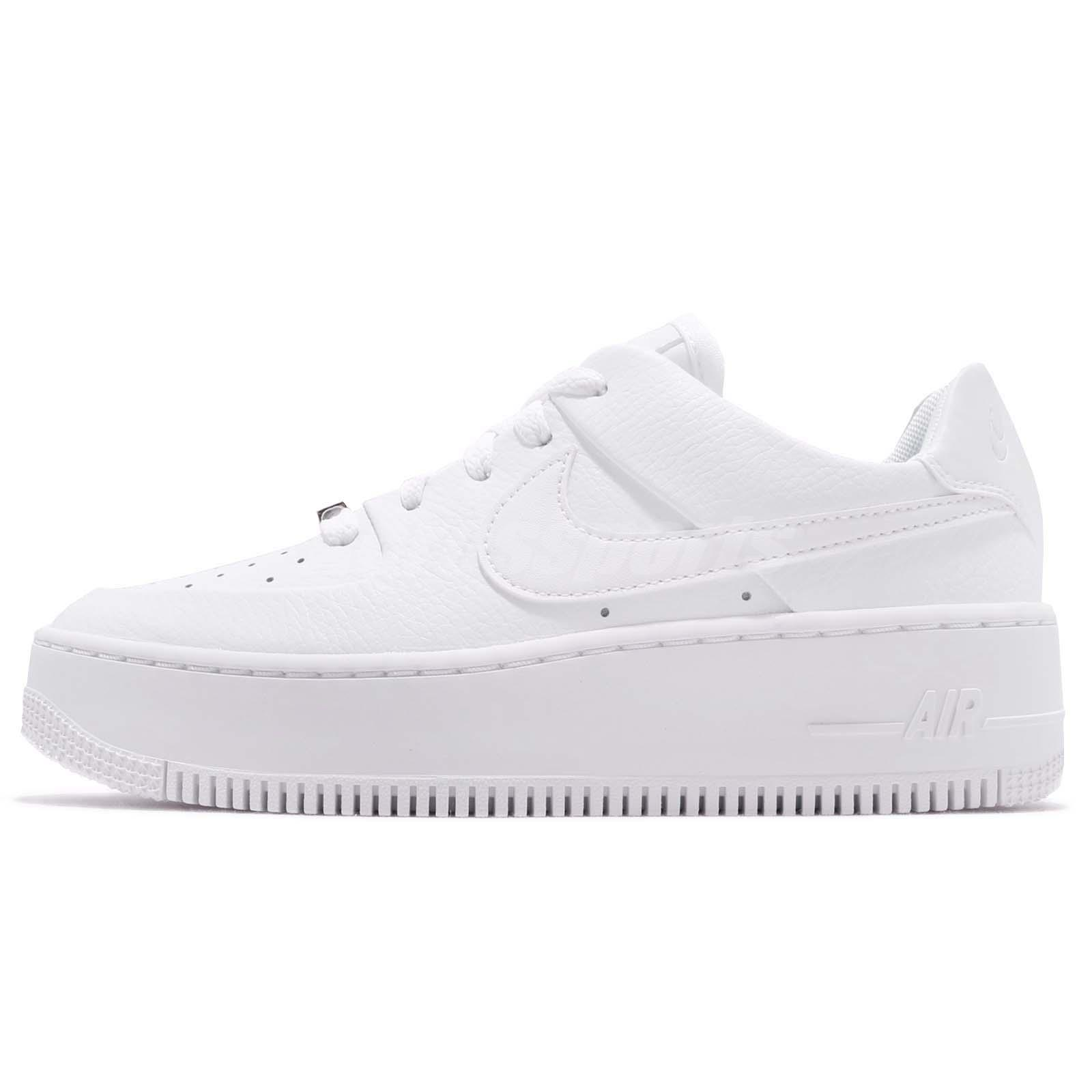fcc9215d45d Nike Wmns AF1 Sage Low Triple White Air Force 1 Platform Womens Shoes  AR5339-100
