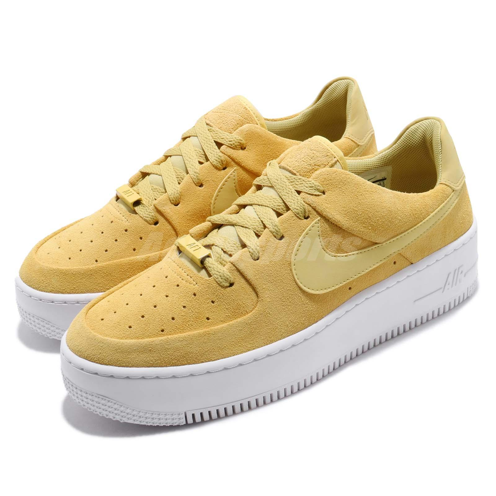 watch 3fa7f 54840 Details about Nike Wmns AF1 Sage Low Celery Yellow Womens Casual Shoes Air  Force 1 AR5339-300