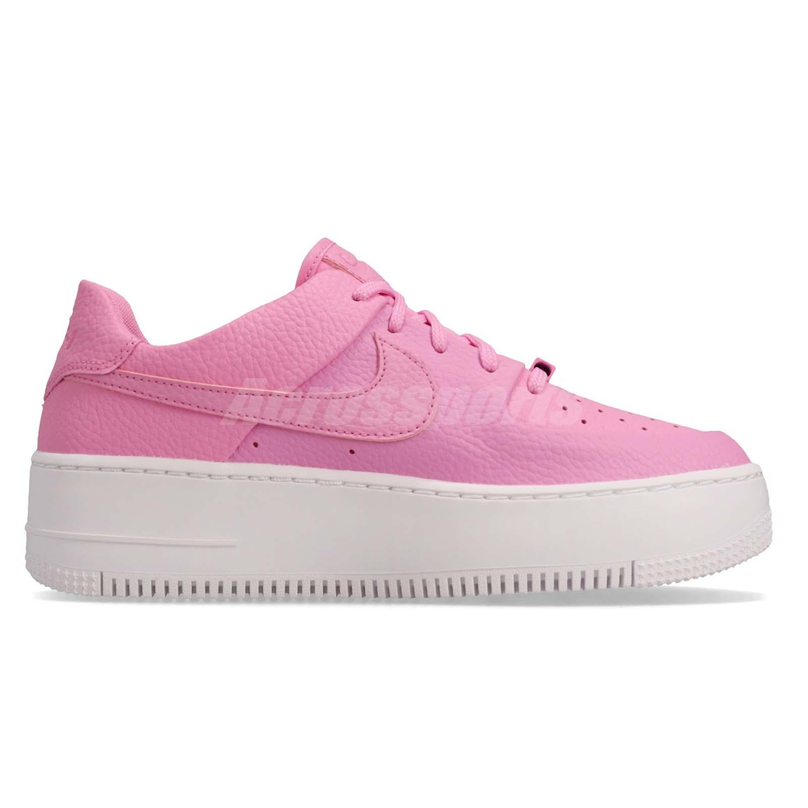 Details about Nike Wmns AF1 Sage Low Air Force 1 Psychic Pink Women Platform Shoes AR5339 601