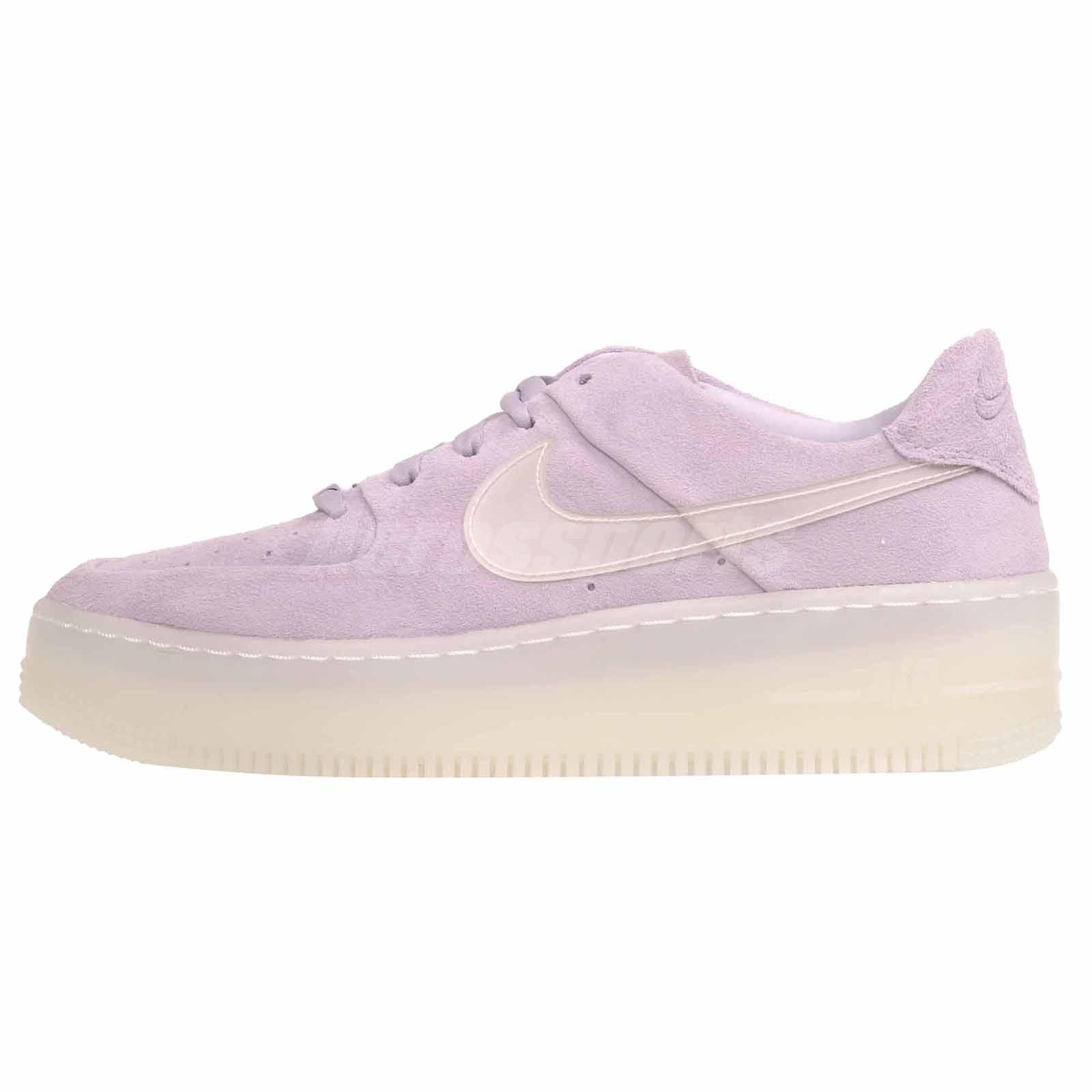online retailer 372ab 088dc Details about Nike W AF1 Sage Low XL Casual Womens Shoes Violet Mist  AR5409-500