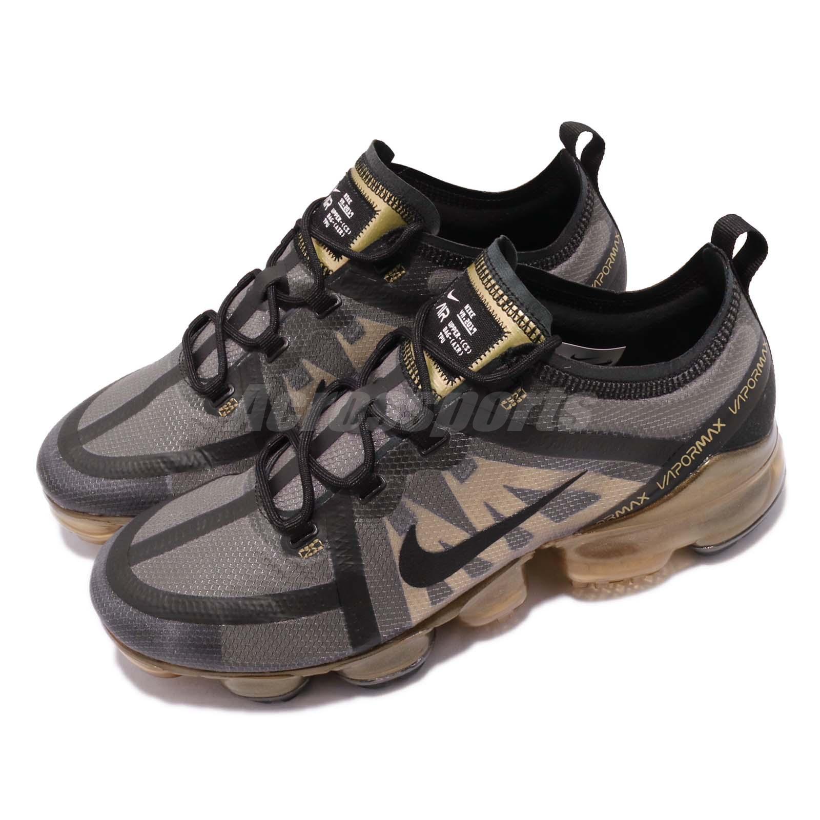 Nike Air Vapormax 2019 Black Gold Max Mens Running Shoes ...