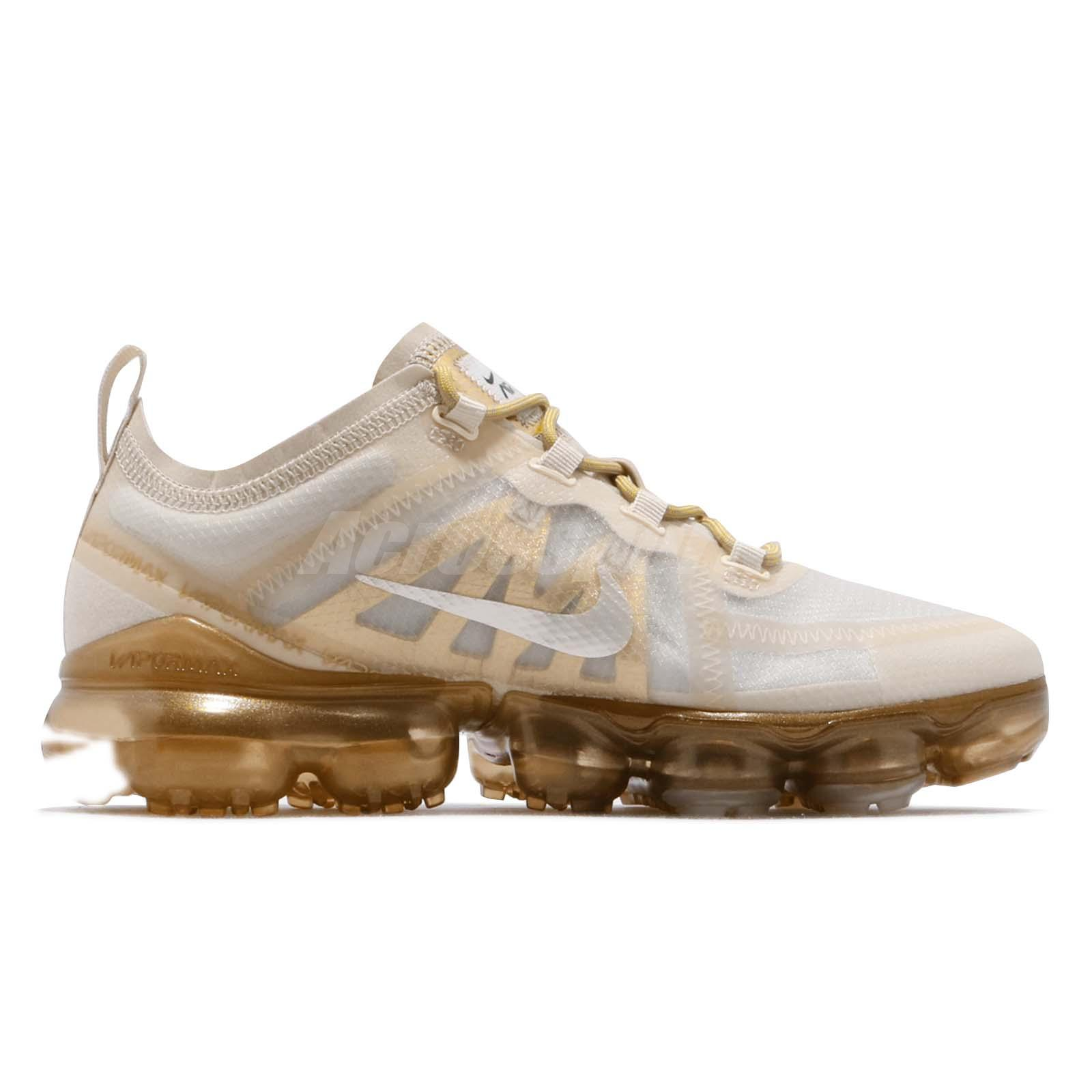 f1787c28e6 Nike Wmns Air Vapormax 2019 Cream Sail Light Bone Gold Women Shoes ...