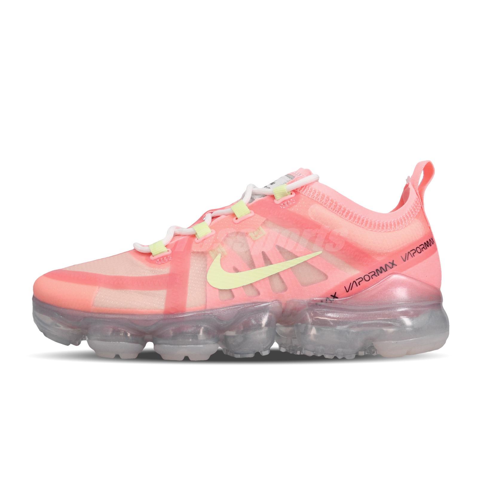 Nike Wmns Air Vapormax 2019 Pink Tint Barely Volt Women Running Shoes AR6632-602