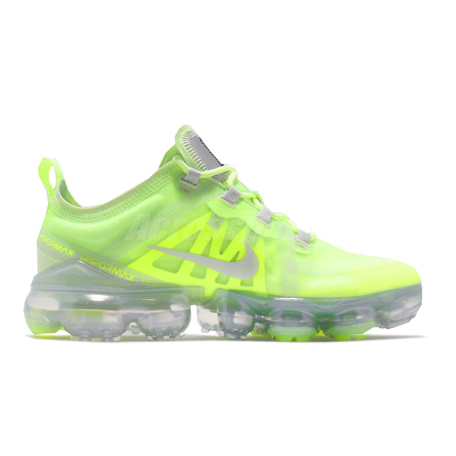 new style 8115c a9bd9 Details about Nike Wmns Air Vapormax 2019 Volt Glow Spruce Aura Women  Running Shoes AR6632-700