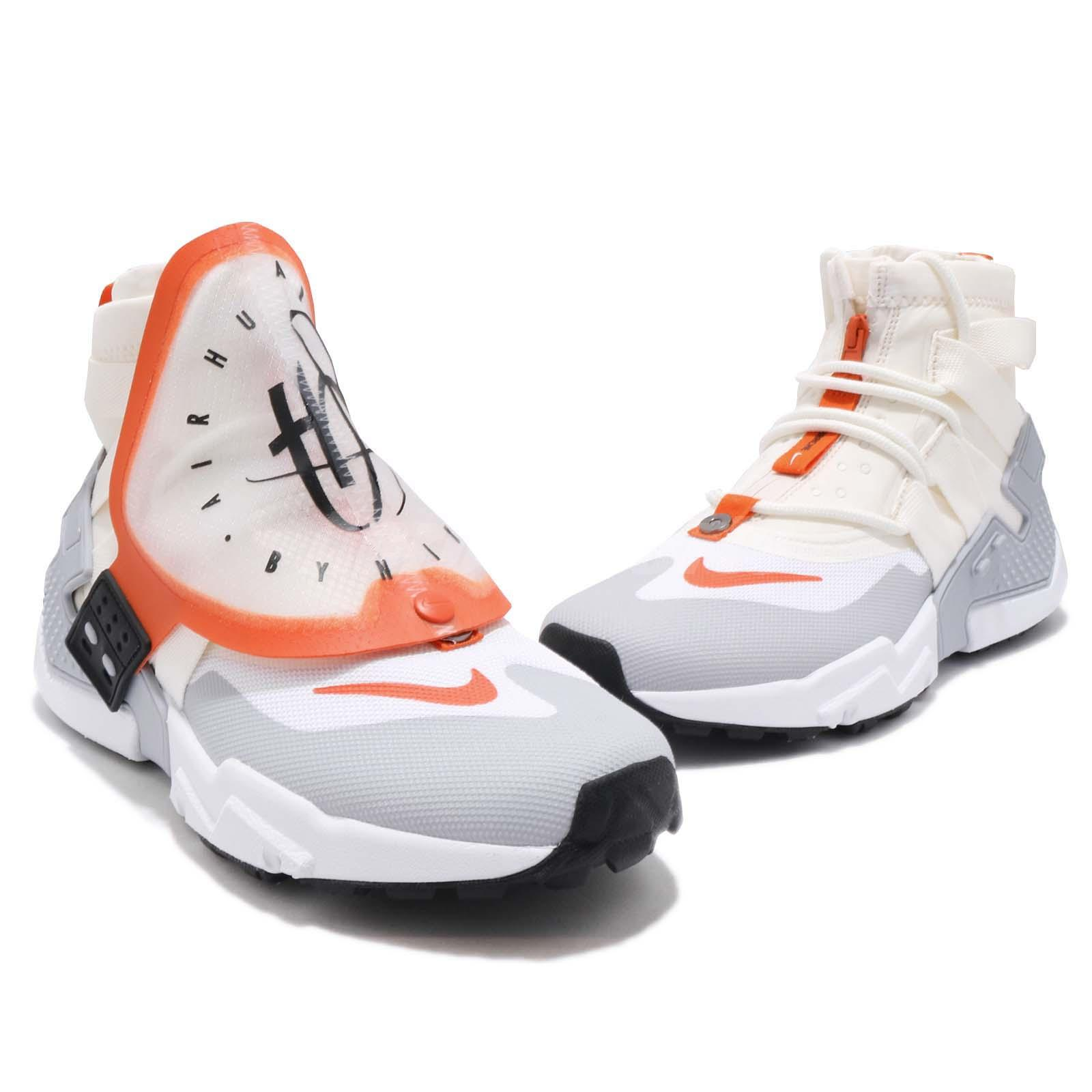 buy online a1ae6 be3f8 Nike Air Huarache Gripp QS Sail Orange White Men Running Casual ...