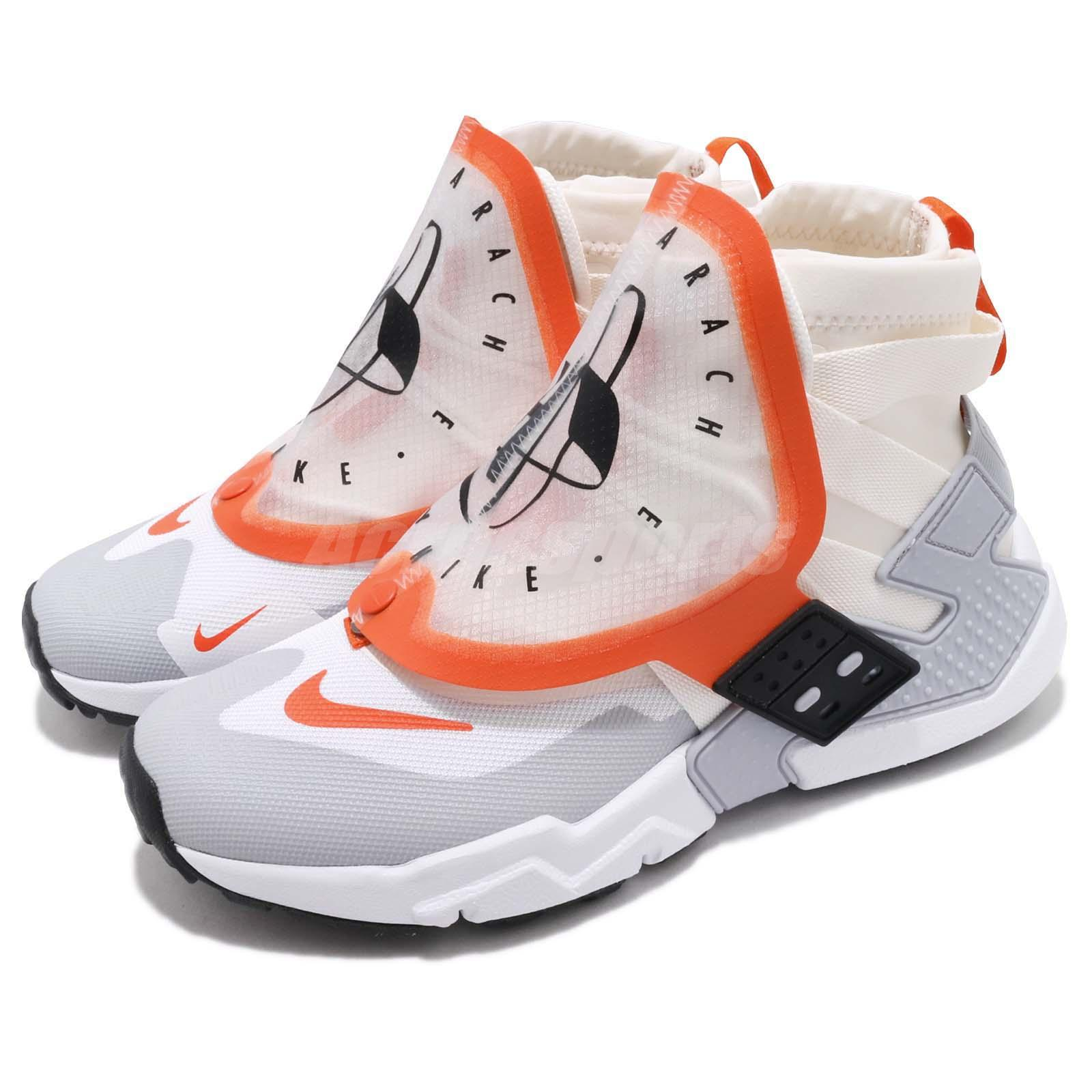 7646a4a9ebe07 Details about Nike Air Huarache Gripp QS Sail Orange White Men Running  Casual Shoes AT0298-100