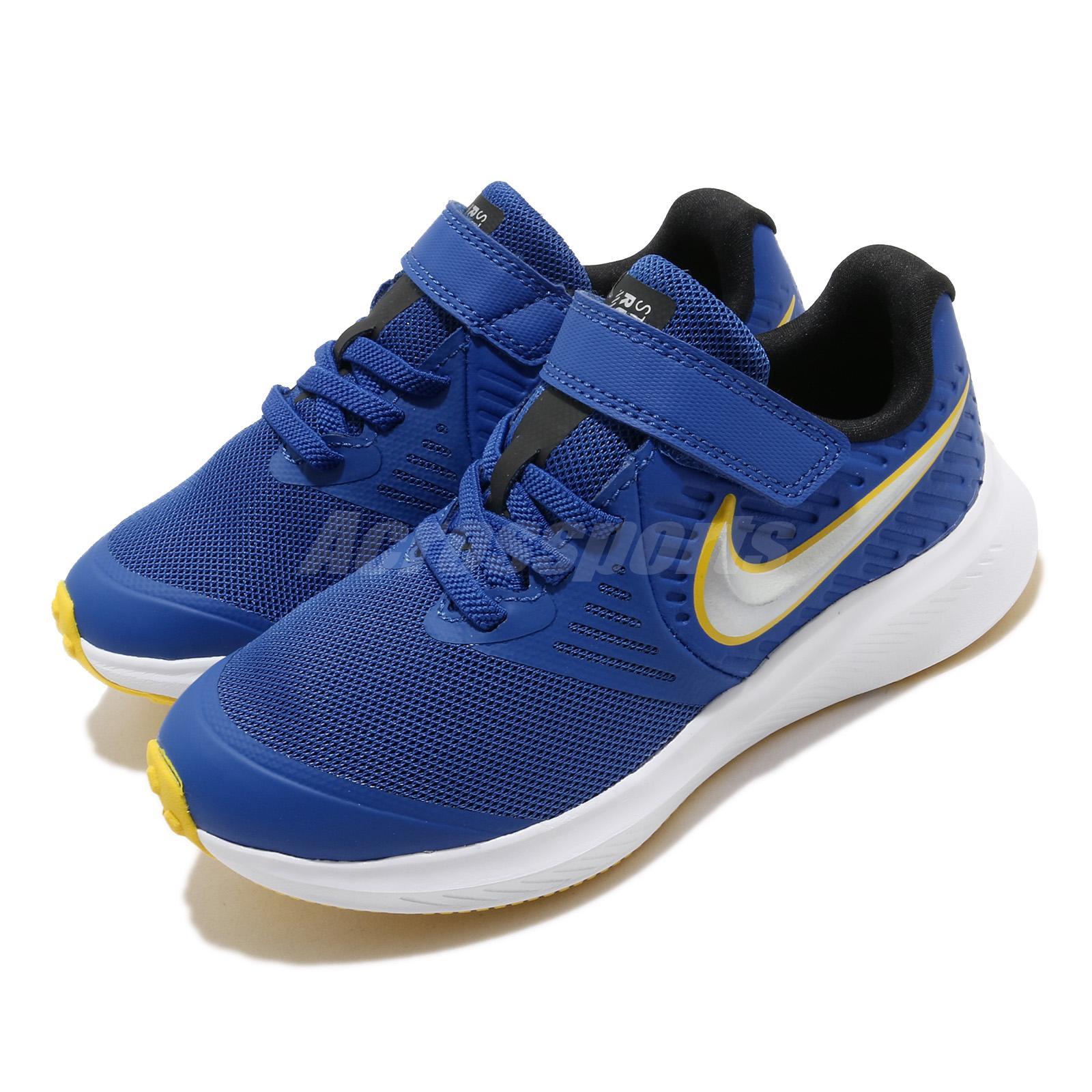 mineral desarrollando fregar  Nike Star Runner 2 PSV Game Royal Blue Silver Yellow Kid Preschool AT1801-404  | eBay