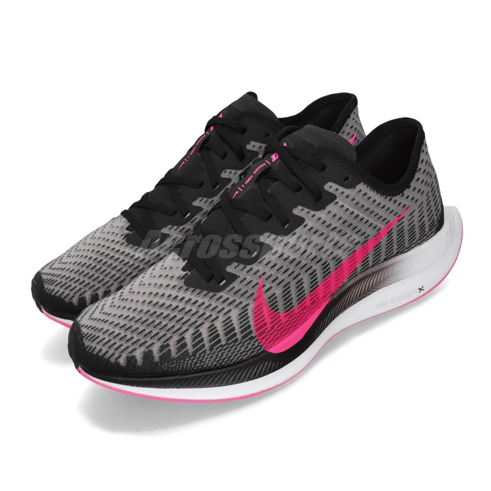 cheaper 556df 865e6 Details about Nike Zoom Pegasus Turbo 2 Black Pink Blast Mens Running Shoes  AT2863-007