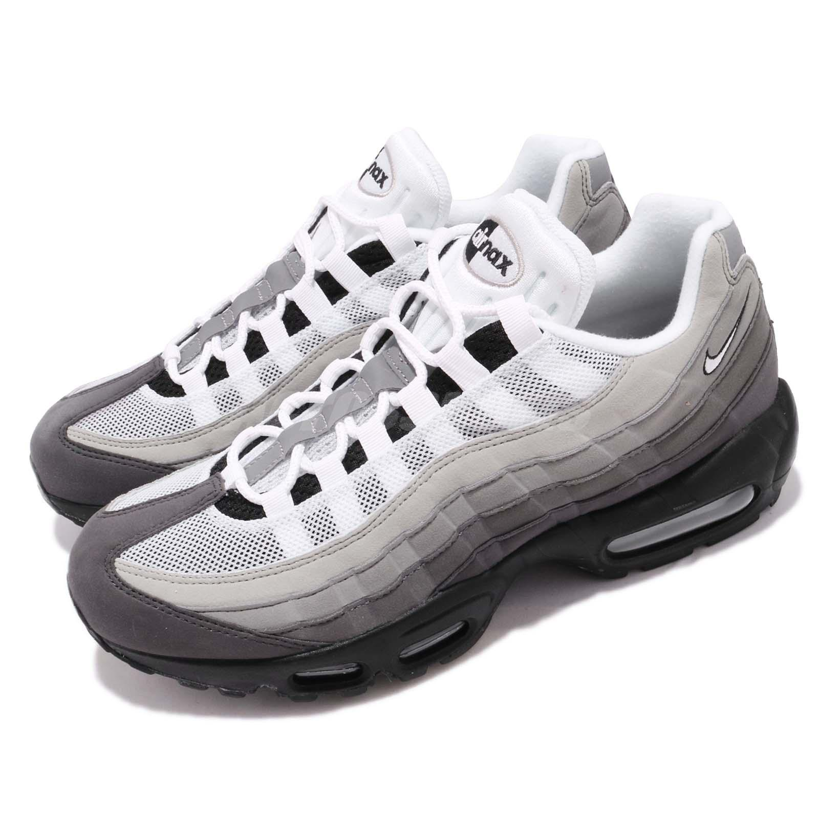 Details about Nike Air Max 95 OG White Grey Gradient Men Running Lifestyle Shoes AT2865 003