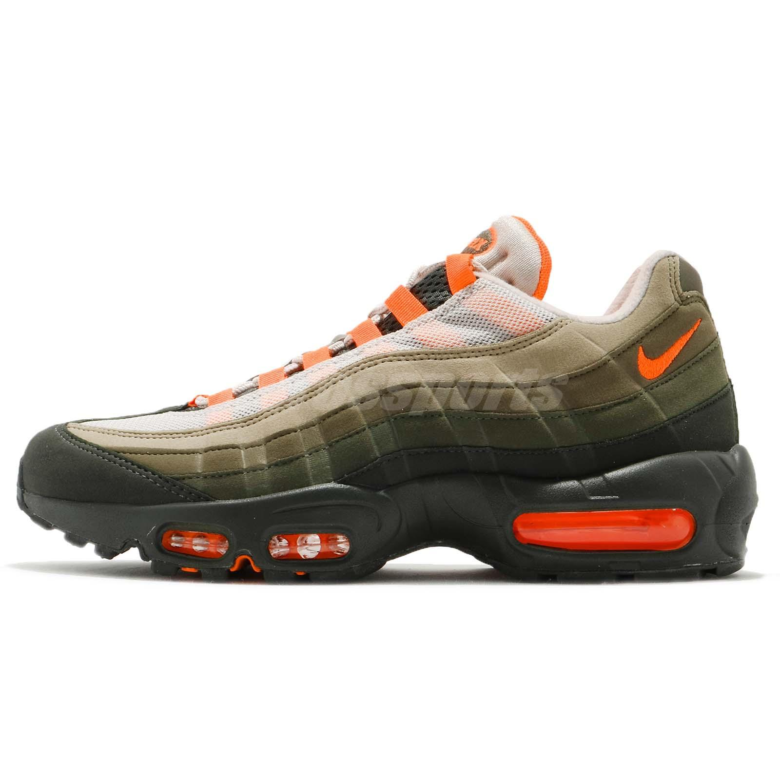 48f11471504 Nike Air Max 95 OG String Green Total Orange Neutral Olive NSW Shoes AT2865- 200