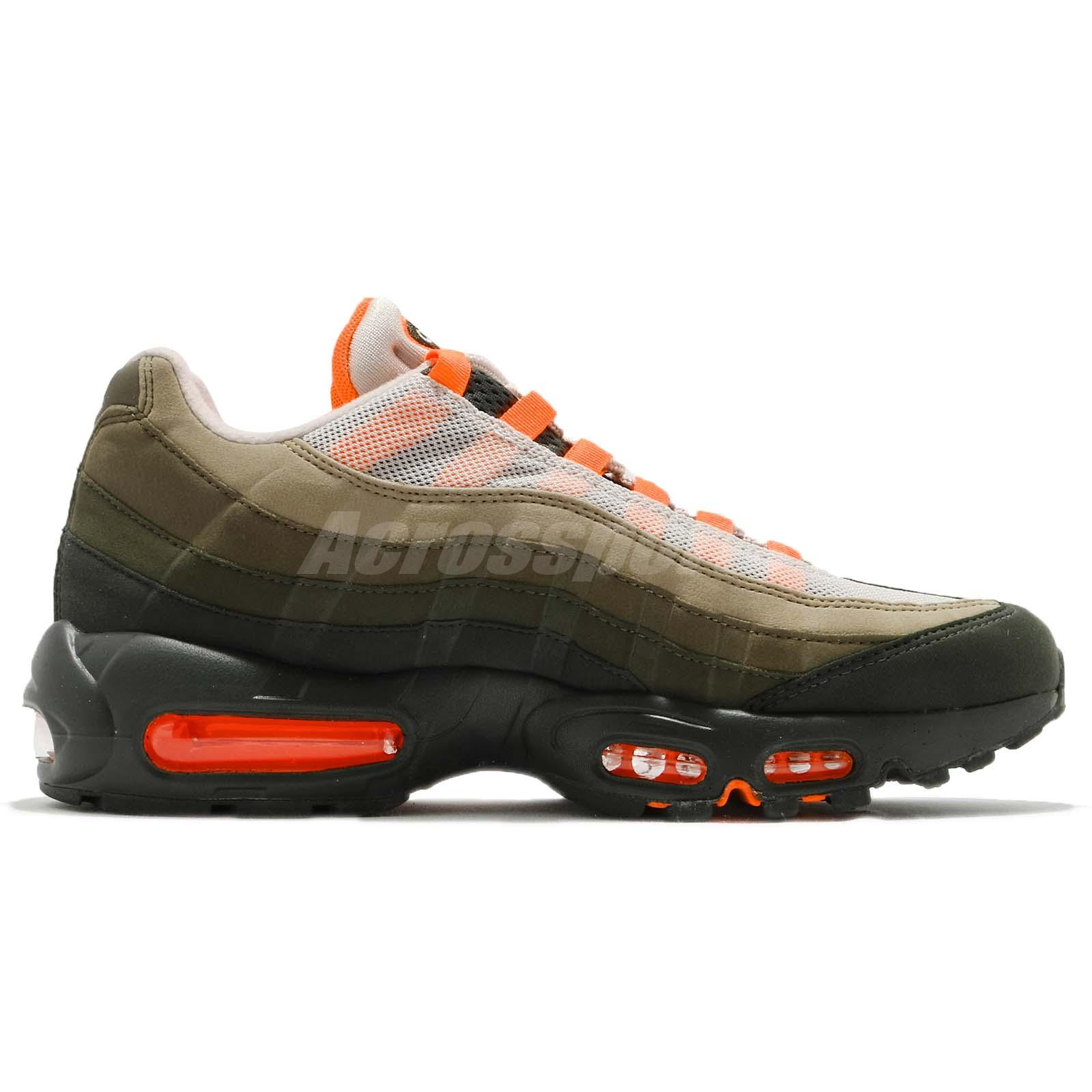 6042a99ded Nike Air Max 95 OG String Green Total Orange Neutral Olive NSW Shoes ...