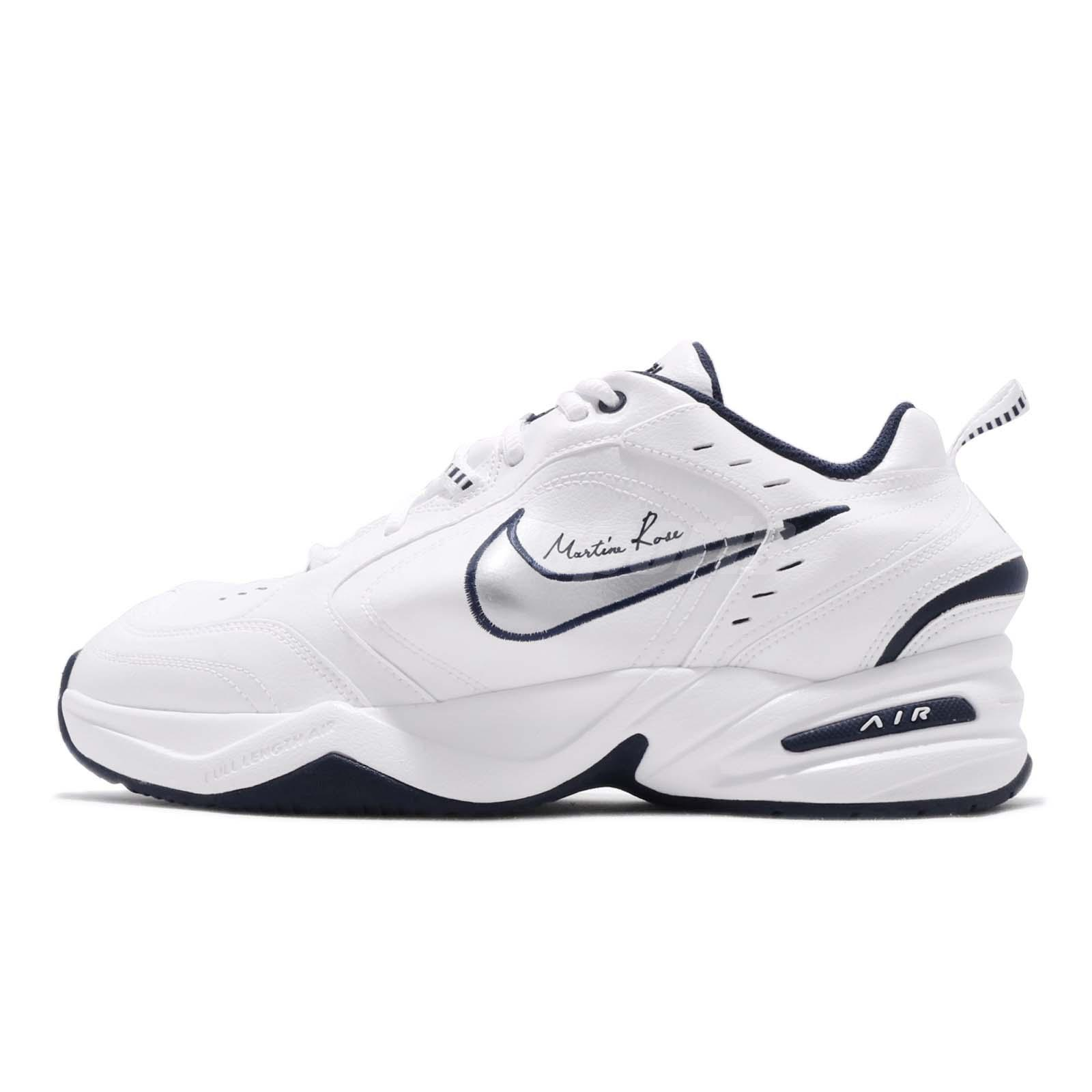 3cc39c07720074 Nike Air Monarch IV Martine Rose White Silver Navy Mens Shoes Sneaker AT3147 -100