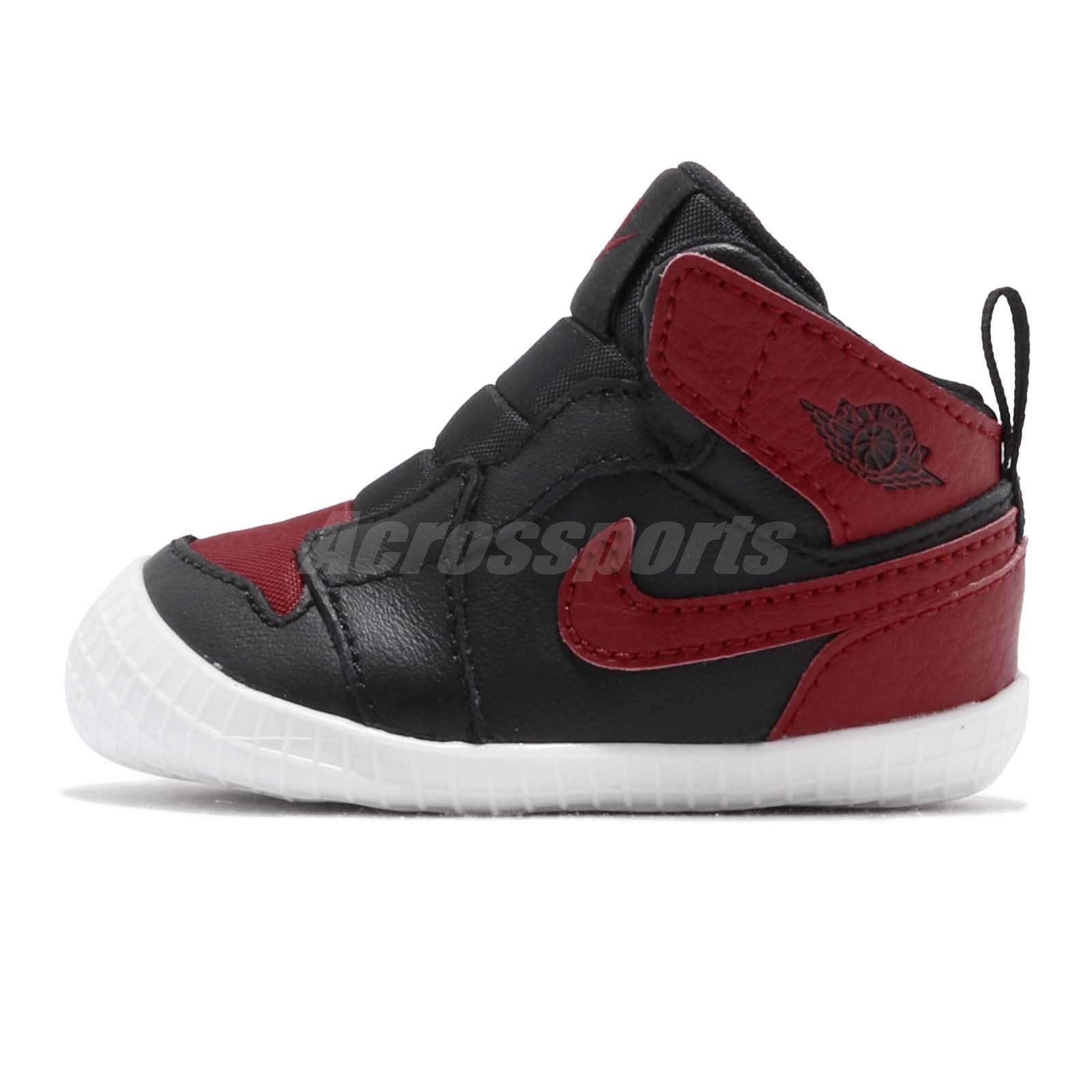 1a16e663b Details about Nike Jordan 1 CRIB Bootie I AJ1 Bred Black Red TD Toddler  Infant Shoe AT3745-023