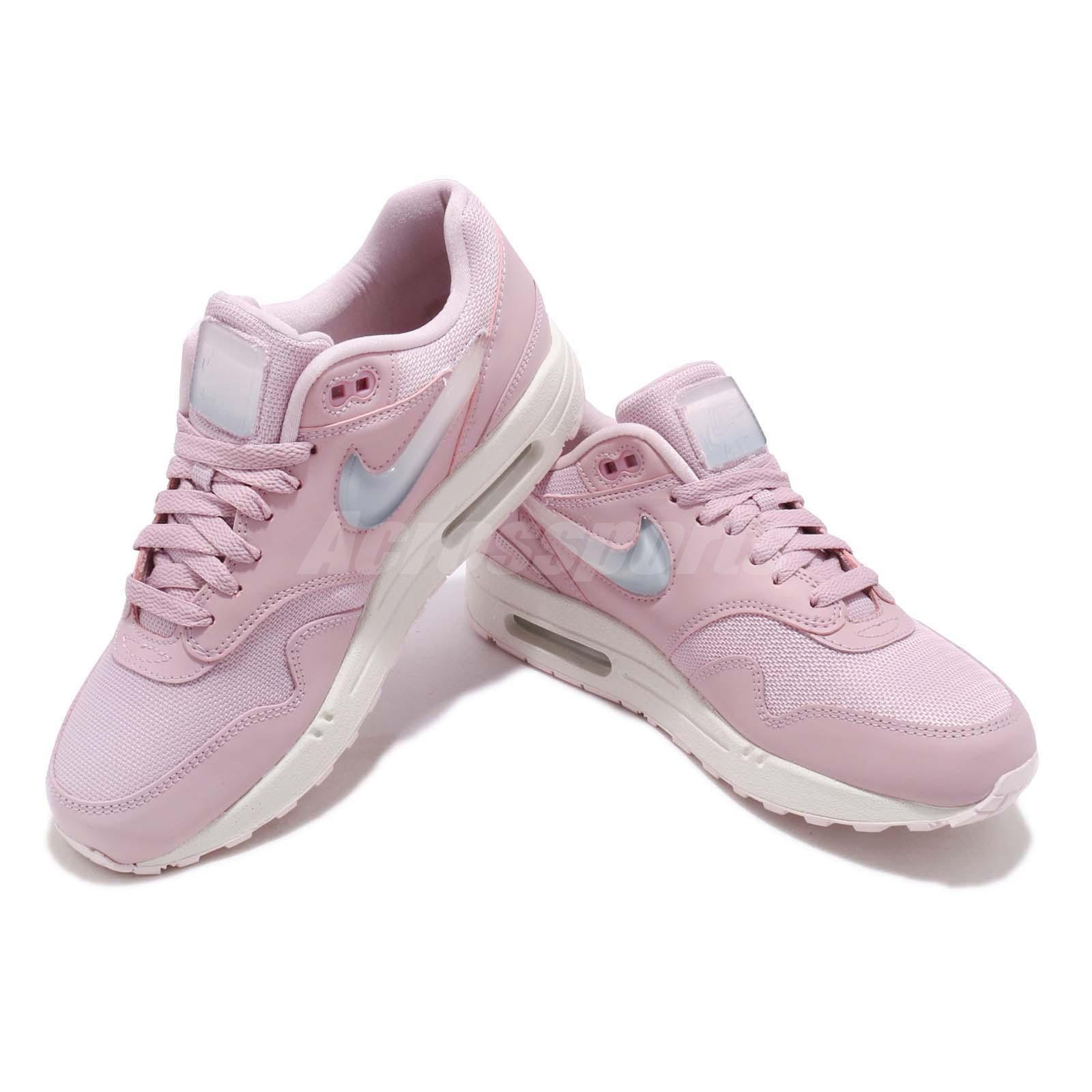 Details about Nike Wmns Air Max 1 JP Jelly Puff Swoosh Pink Womens Running Shoes AT5248 500