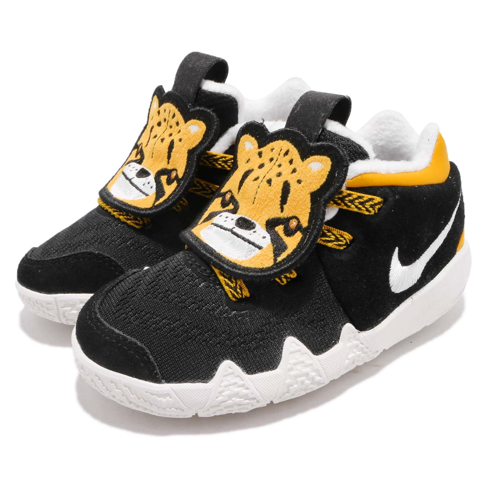 black and yellow kyrie 4