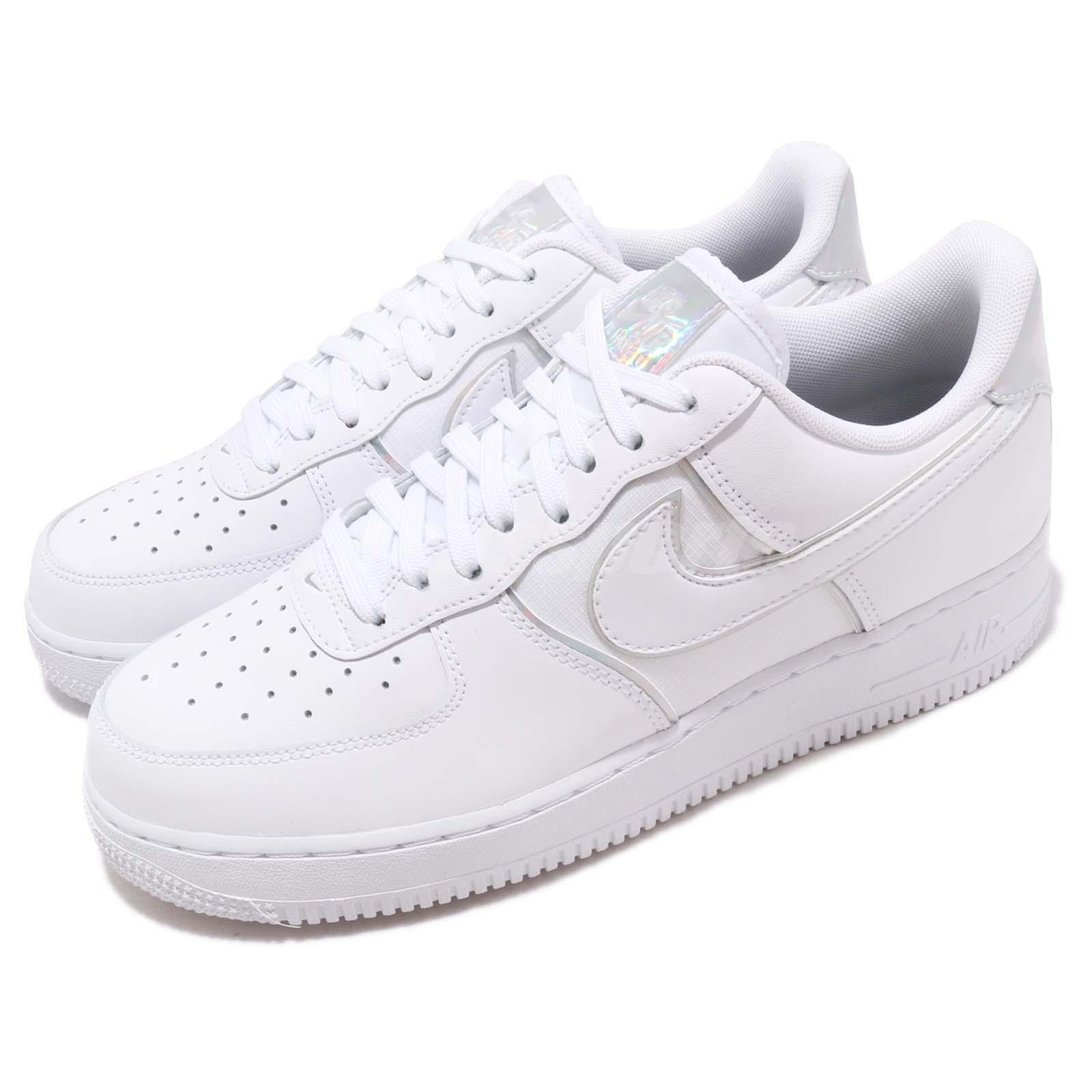 low priced 1cdee b9bbb Details about Nike Air Force 1 07 LV8 4 White Iridescent Men Casual Shoes  Sneakers AT6147-100