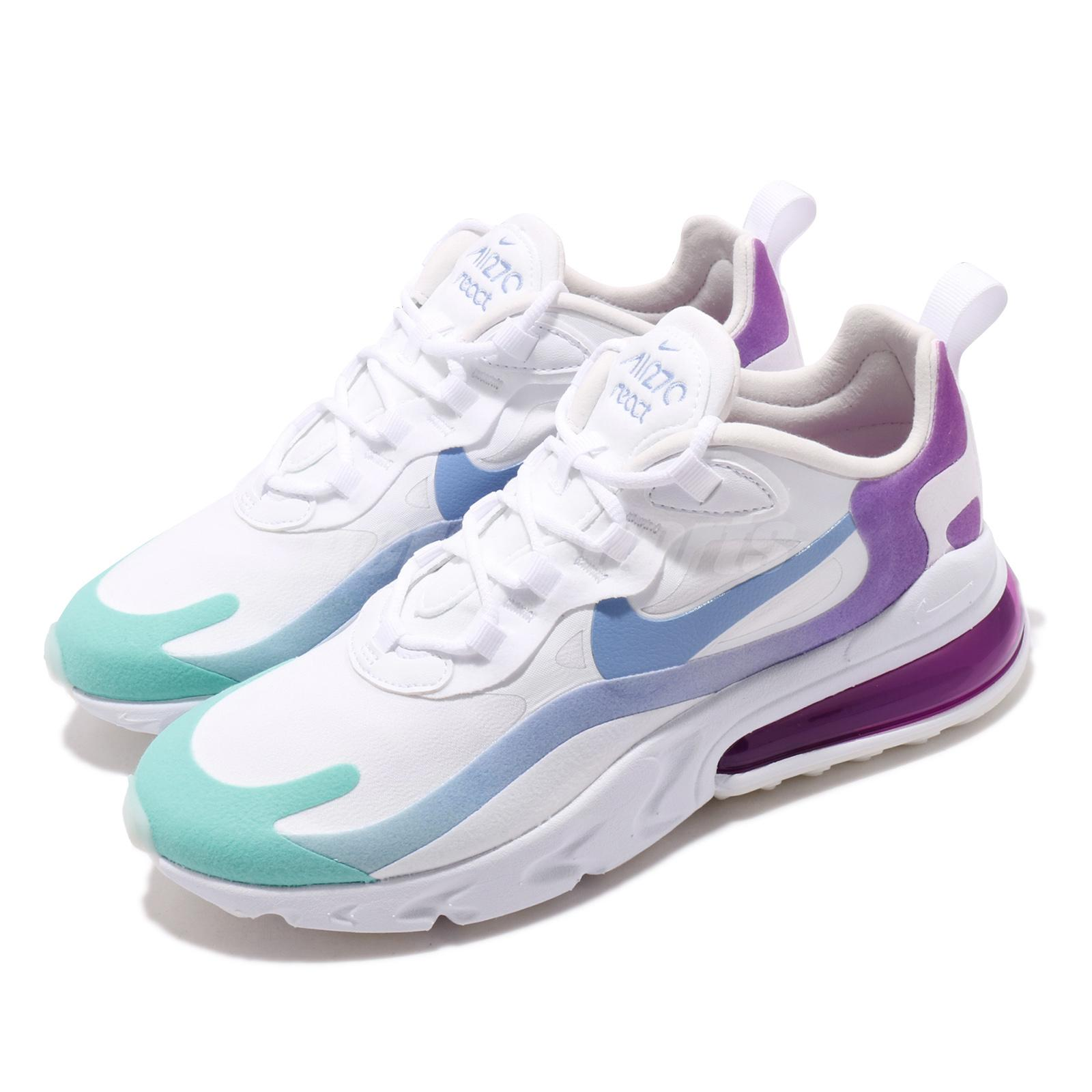 Nike Wmns Air Max 270 React Aurora Green White Blue Purple Women