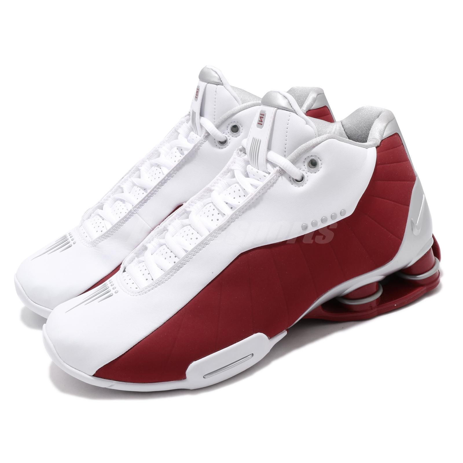 Details about Nike Shox BB4 White Varsity Red Vince Carter Mens Basketball  Shoes AT7843-101