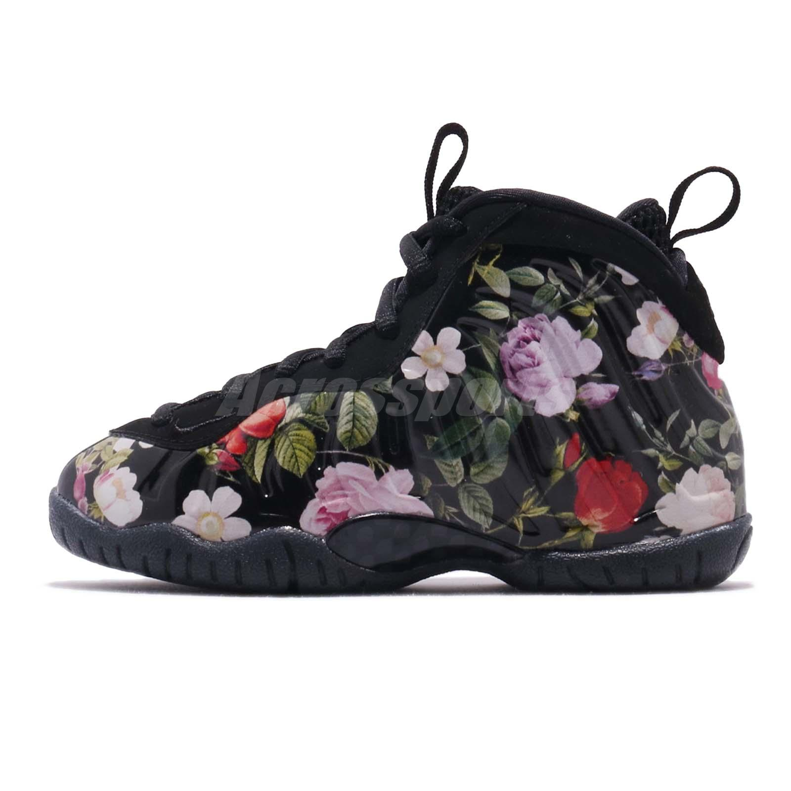 bf4ab4e99e1e1 Nike Little Posite One Prm PS Foamposite Floral Kid Preschool Shoes AT8249- 001