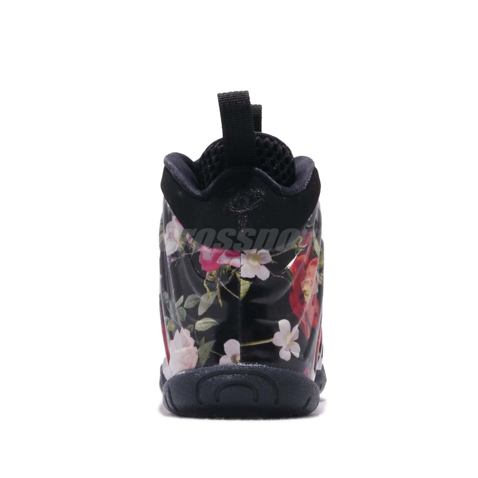Nike Little Posite One Prm PS Foamposite Floral Kid Preschool Shoes ... a26ce221b