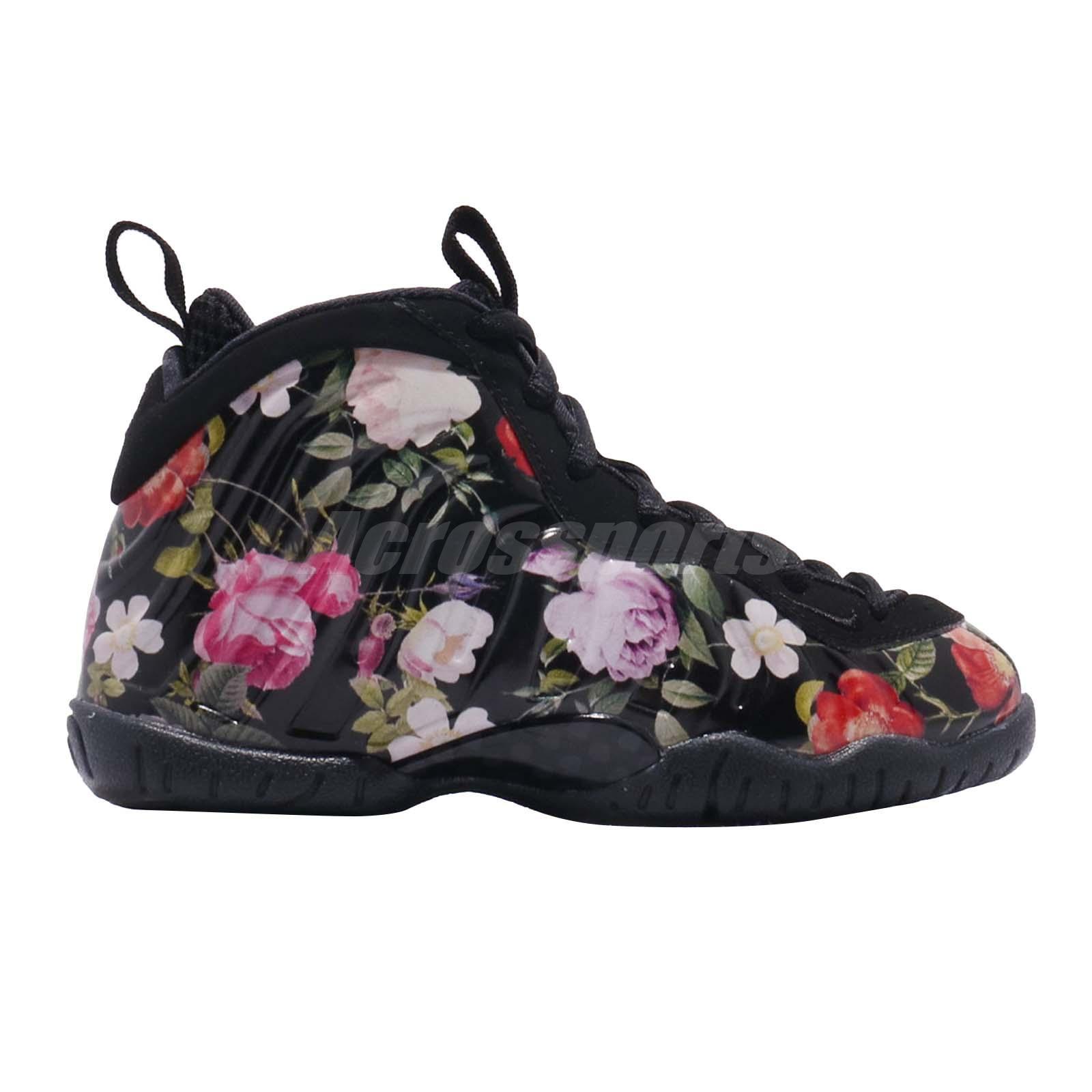 71c456c5f72 Nike Little Posite One Prm PS Foamposite Floral Kid Preschool Shoes ...