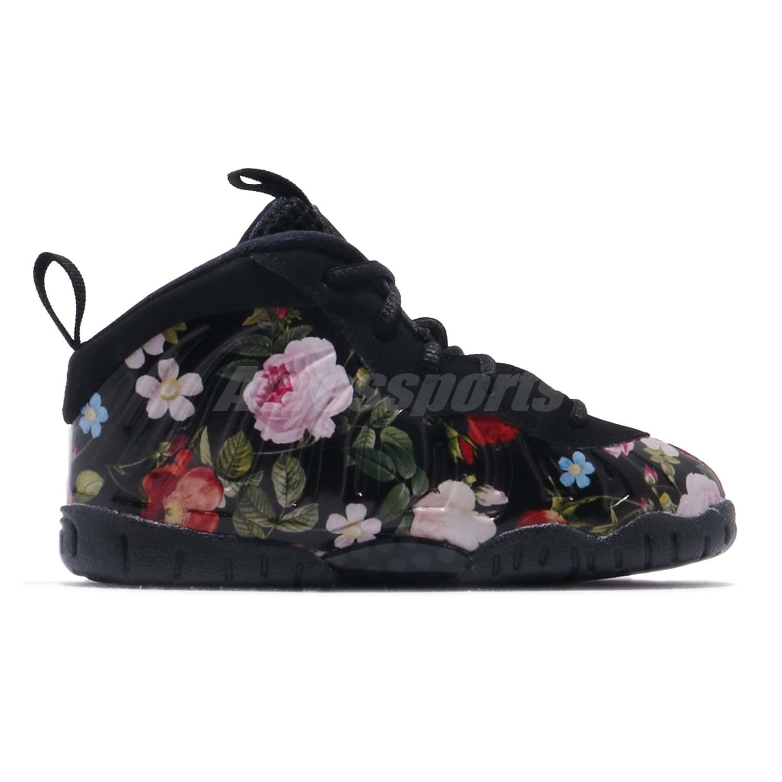cheap for discount 9ca15 ecfd5 Nike Little Posite One PRM TD Foamposite Floral Toddler Infant Shoes ...