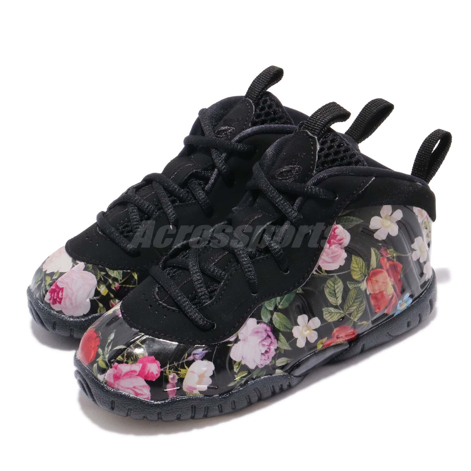 c14982ca7c9b Details about Nike Little Posite One PRM TD Foamposite Floral Toddler  Infant Shoes AT8250-001