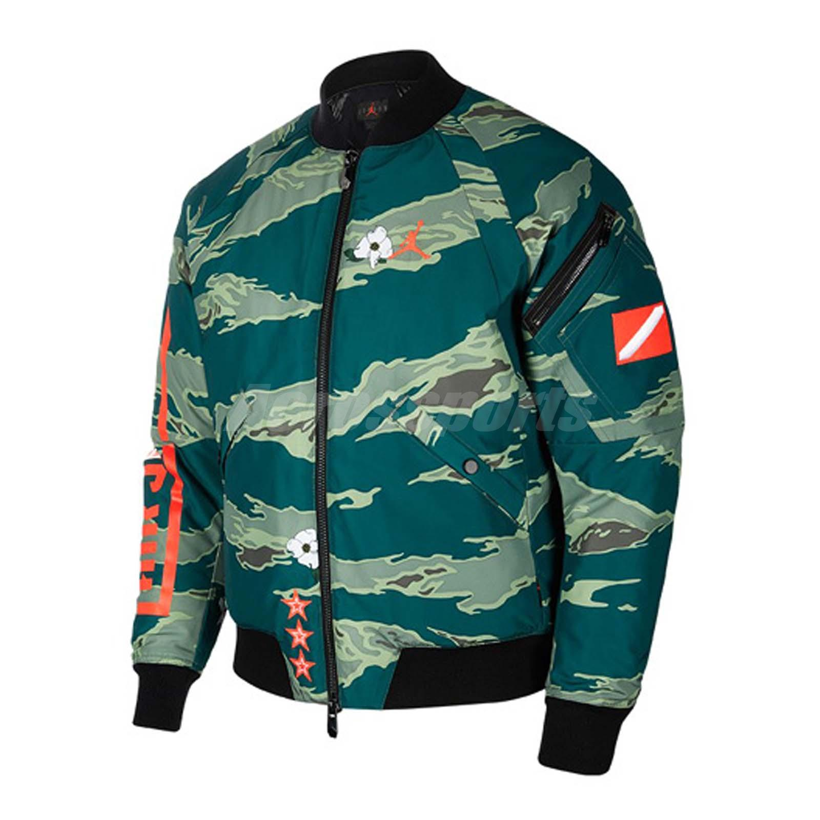 585075c11240 Details about Nike Air Jordan GFX Jacket Bomber MA1 Flight AJ Jumpman MA-1  Gym Camo AT9006-010